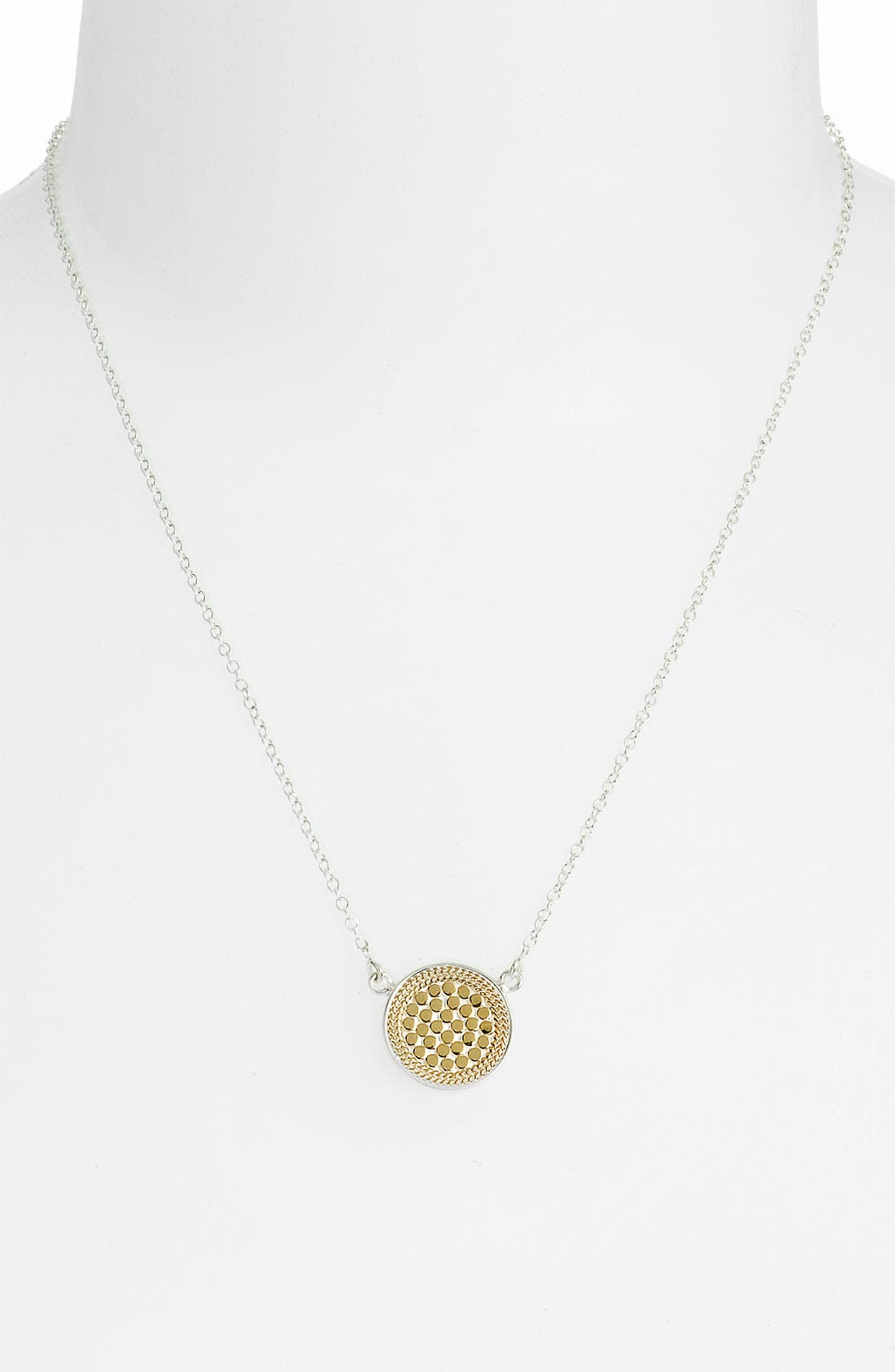 ANNA BECK, Reversible Disc Necklace, Alternate thumbnail 6, color, GOLD/ SILVER
