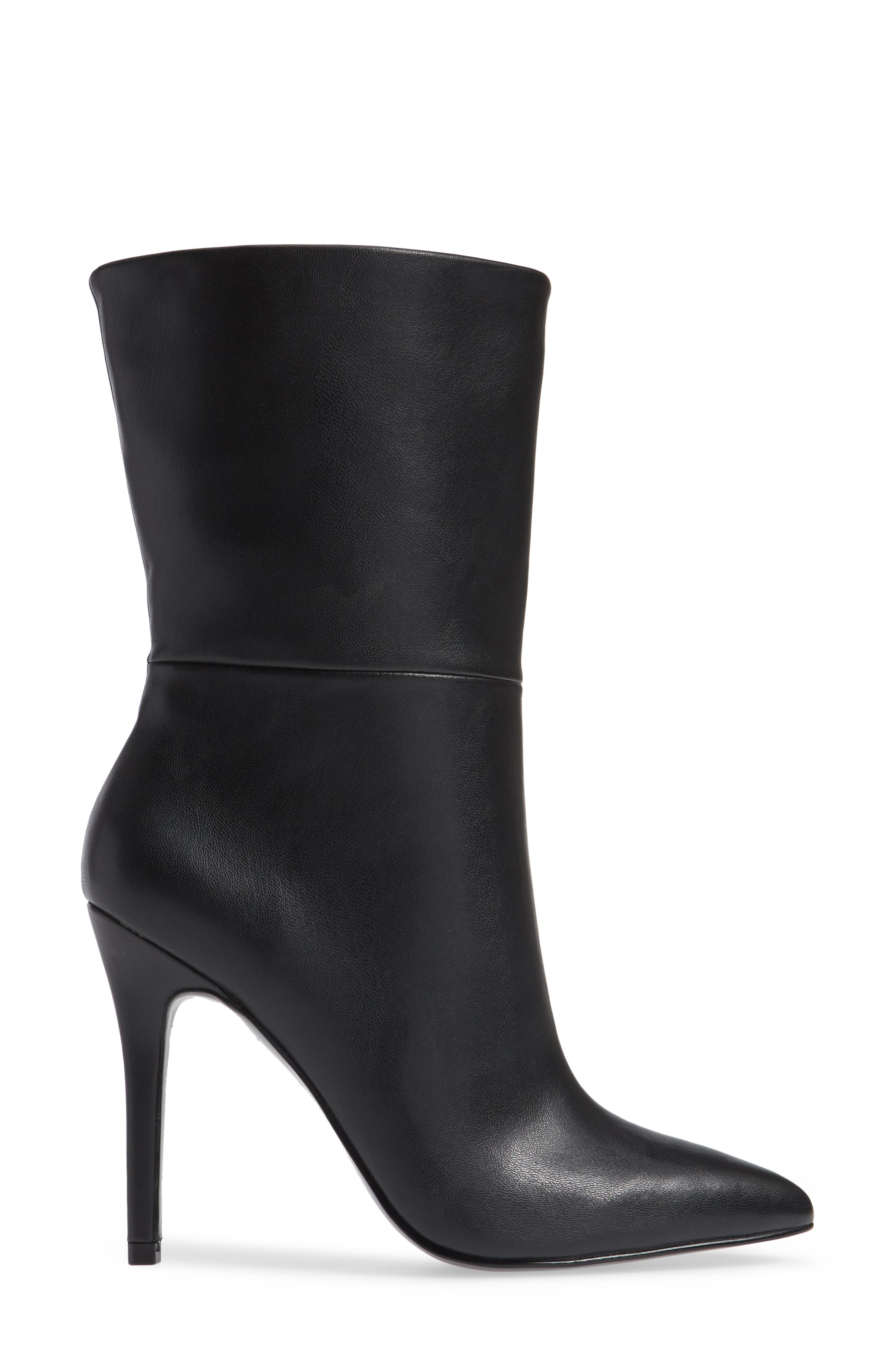 CHARLES BY CHARLES DAVID, Palisades Bootie, Alternate thumbnail 3, color, BLACK FAUX LEATHER