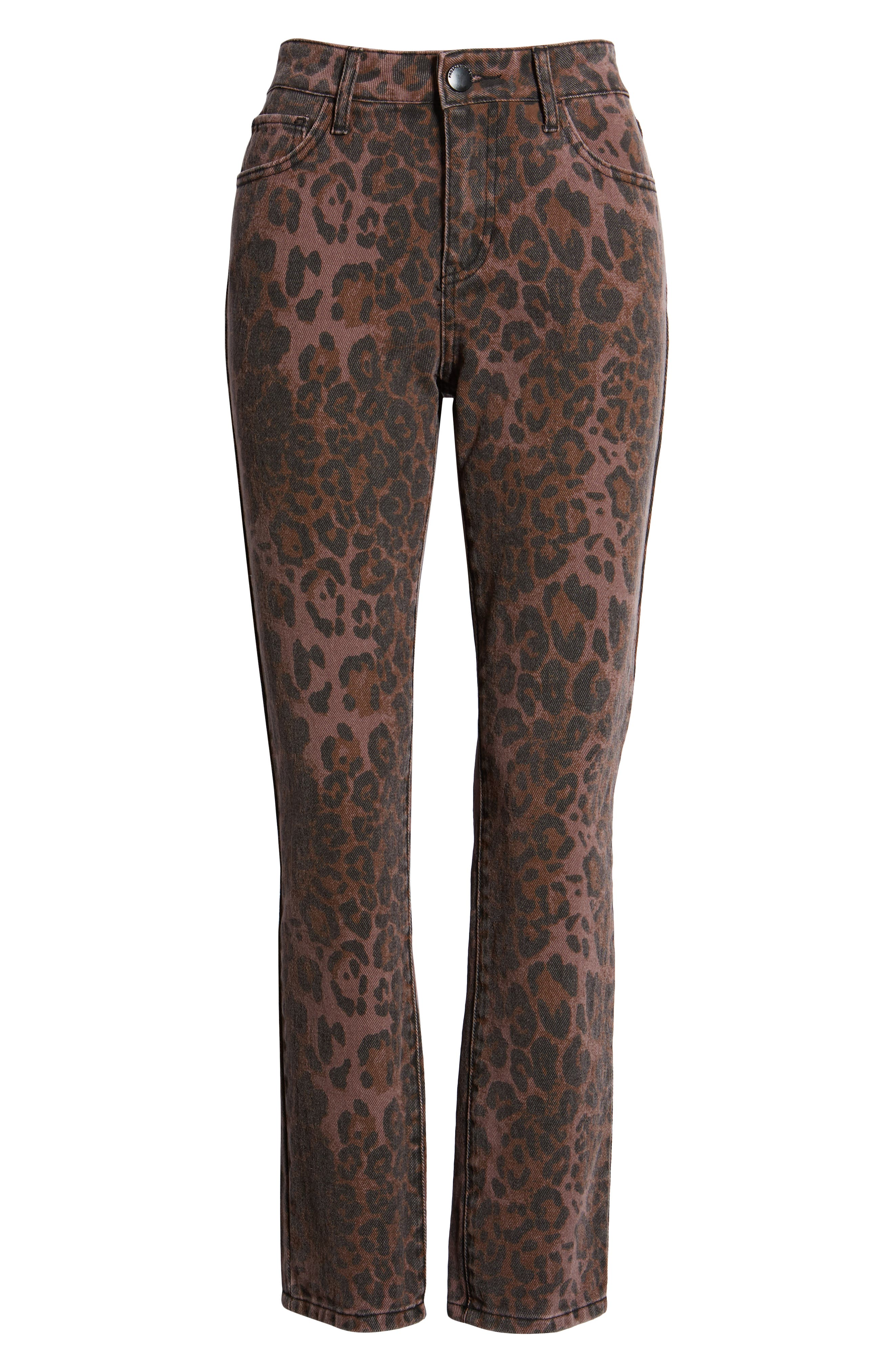 PROSPERITY DENIM, Leopard Print Skinny Jeans, Alternate thumbnail 7, color, LEOPARD