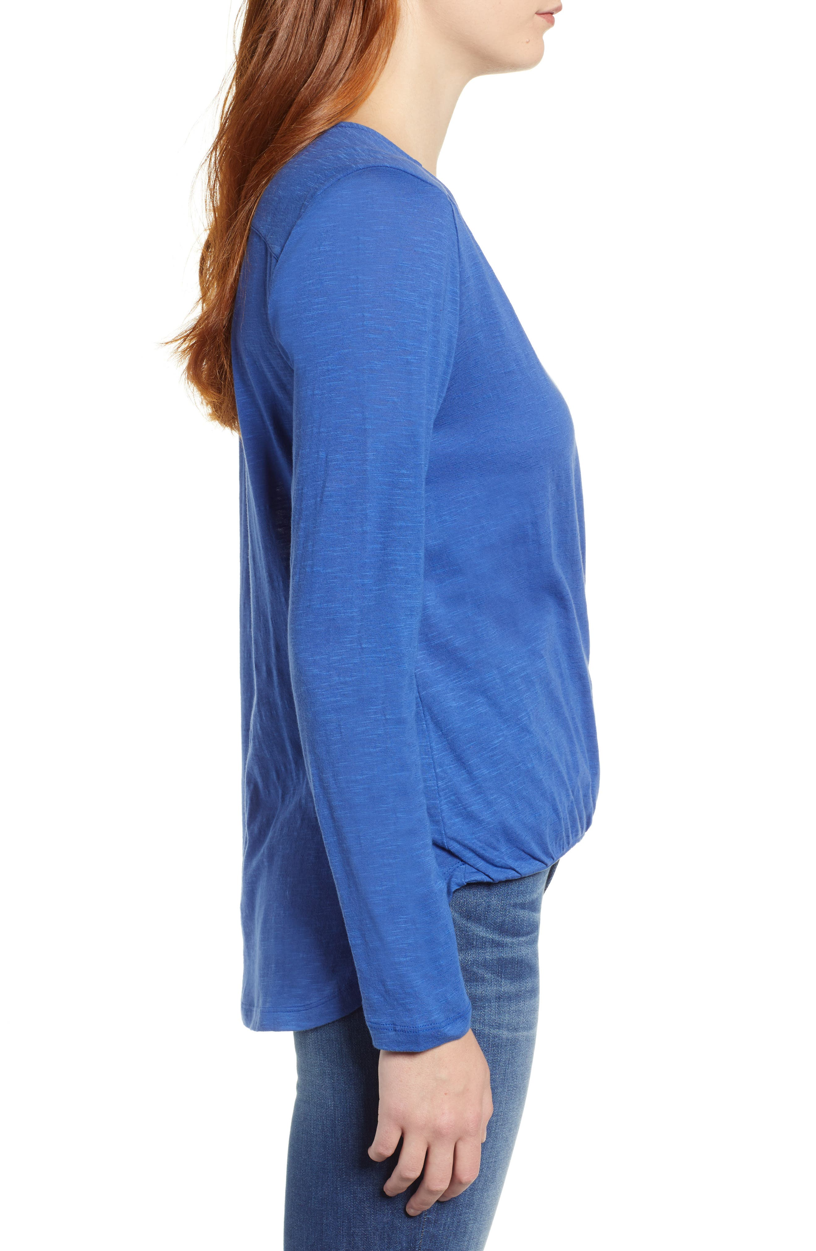 CASLON<SUP>®</SUP>, Faux Wrap Top, Alternate thumbnail 3, color, 401