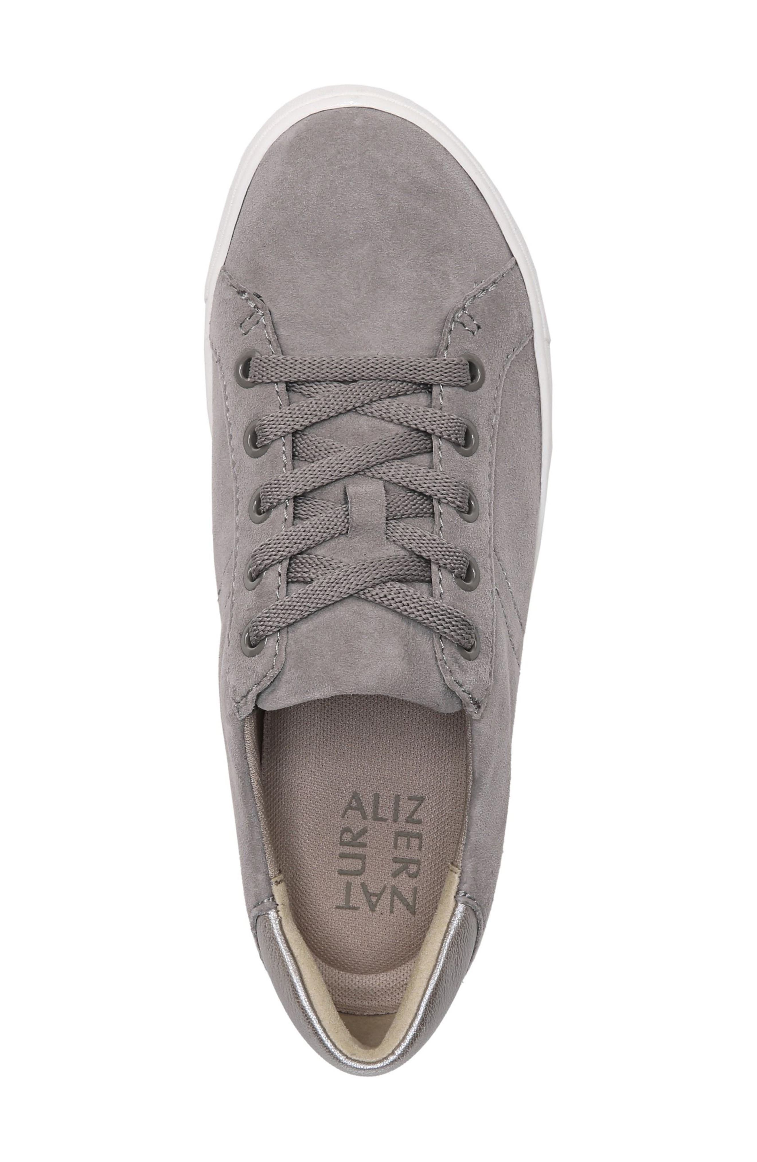 NATURALIZER, Morrison Sneaker, Alternate thumbnail 5, color, GREY SUEDE