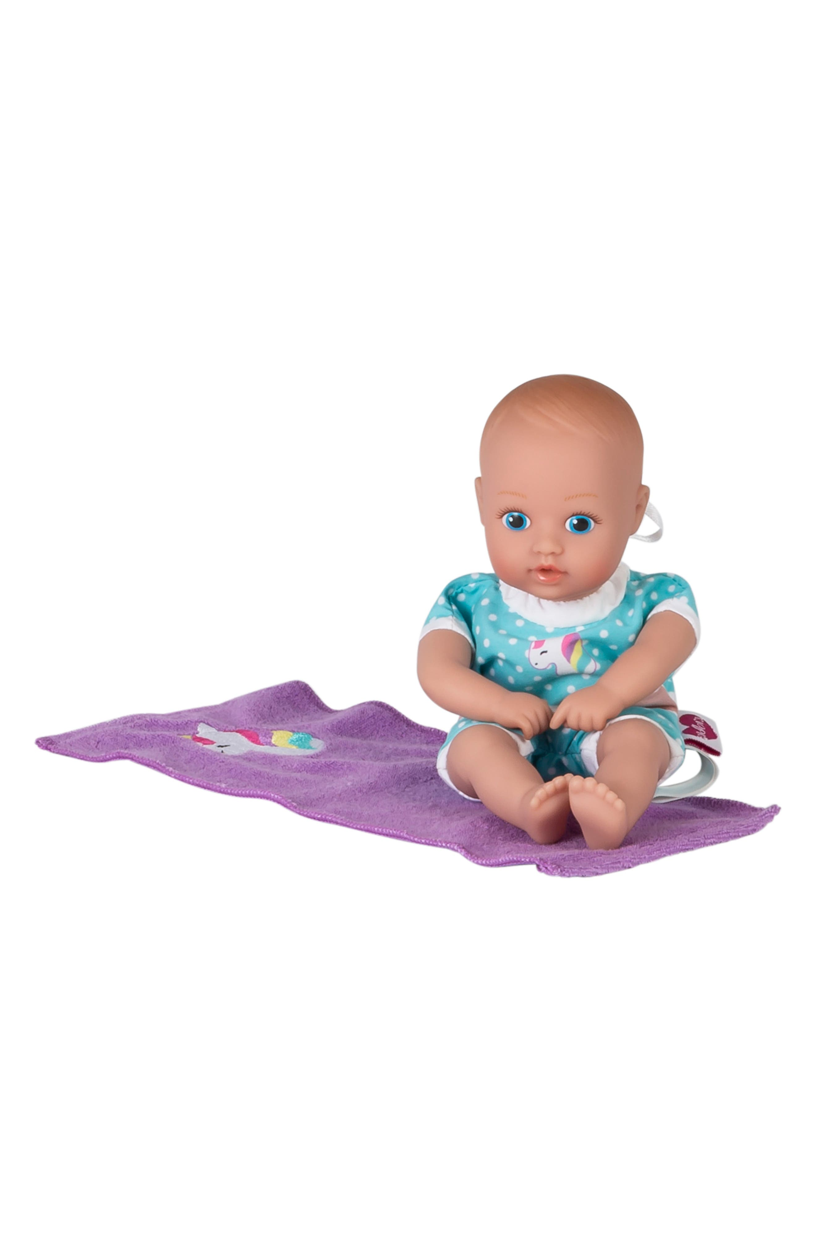 ADORA, Magical Unicorn Splashtime Baby Doll, Alternate thumbnail 8, color, WHITE