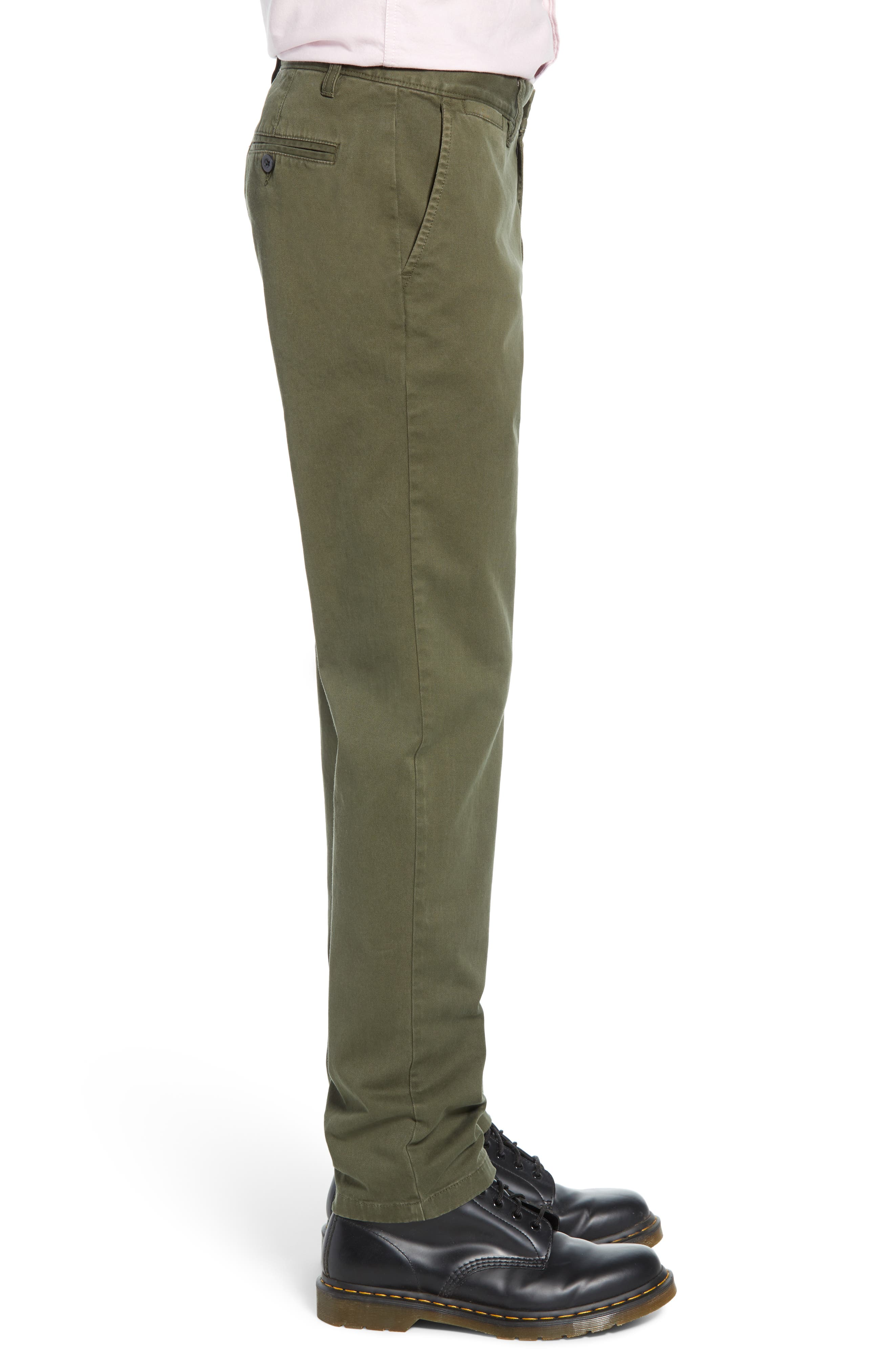 THE RAIL, Slim Fit Chinos, Alternate thumbnail 4, color, OLIVE GROVE