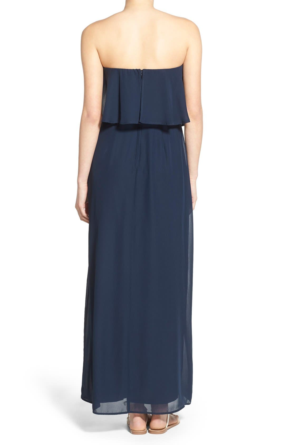 WAY-IN, Strapless Popover Maxi Dress, Alternate thumbnail 3, color, 411