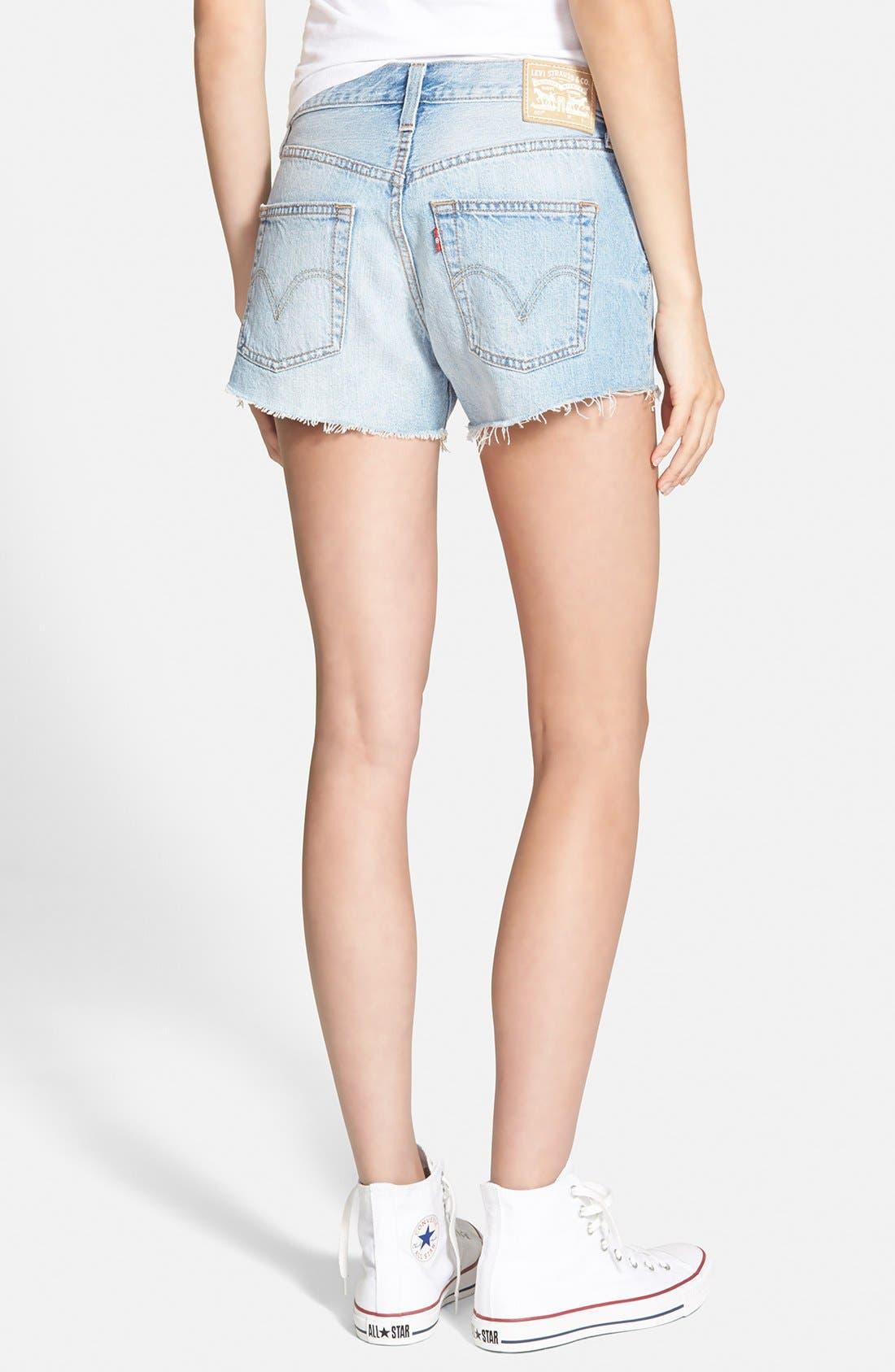 LEVI'S<SUP>®</SUP>, '501<sup>®</sup>' Cutoff Denim Shorts, Alternate thumbnail 3, color, 420