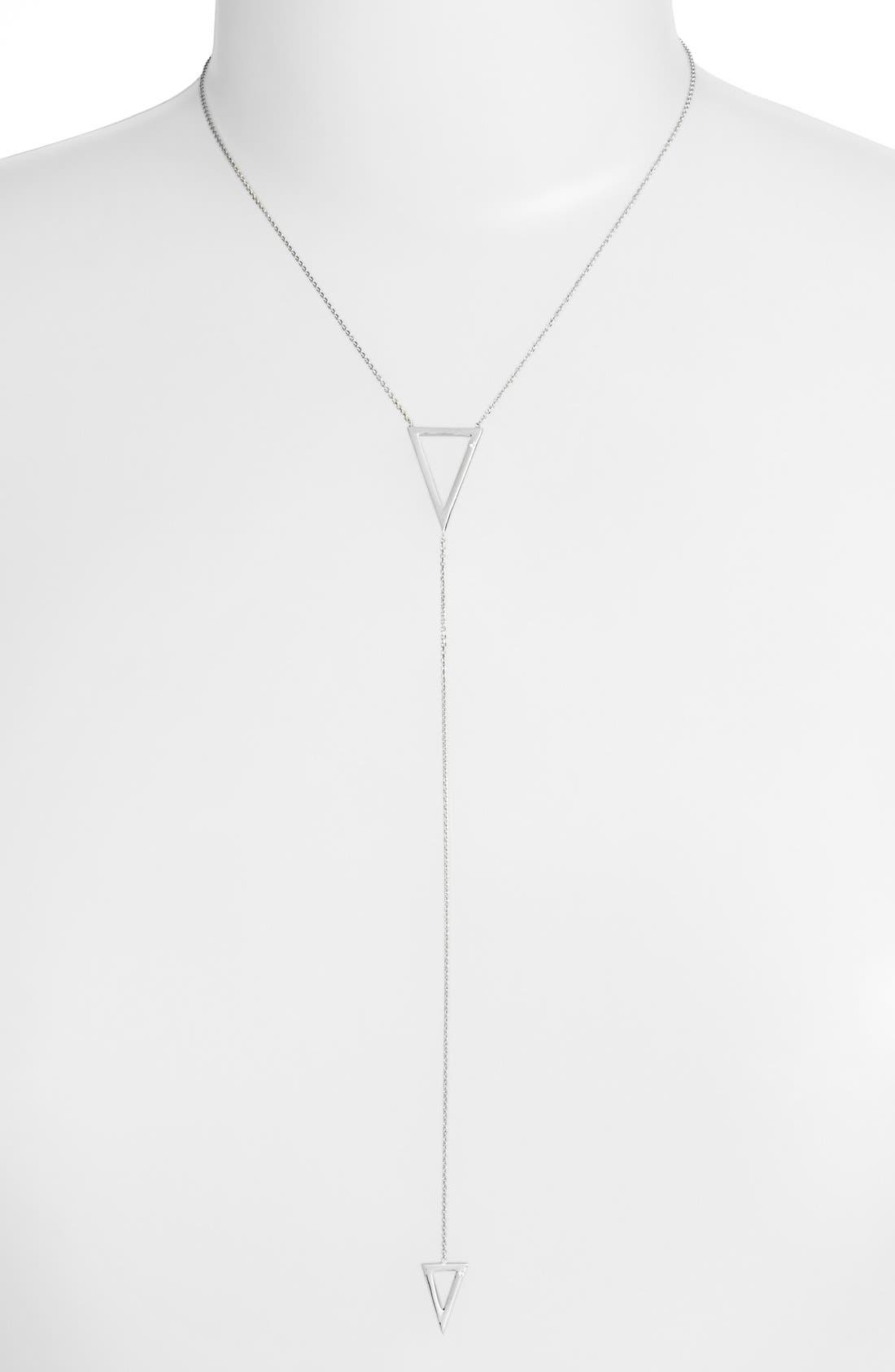 ARGENTO VIVO Lariat Necklace, Main, color, 040