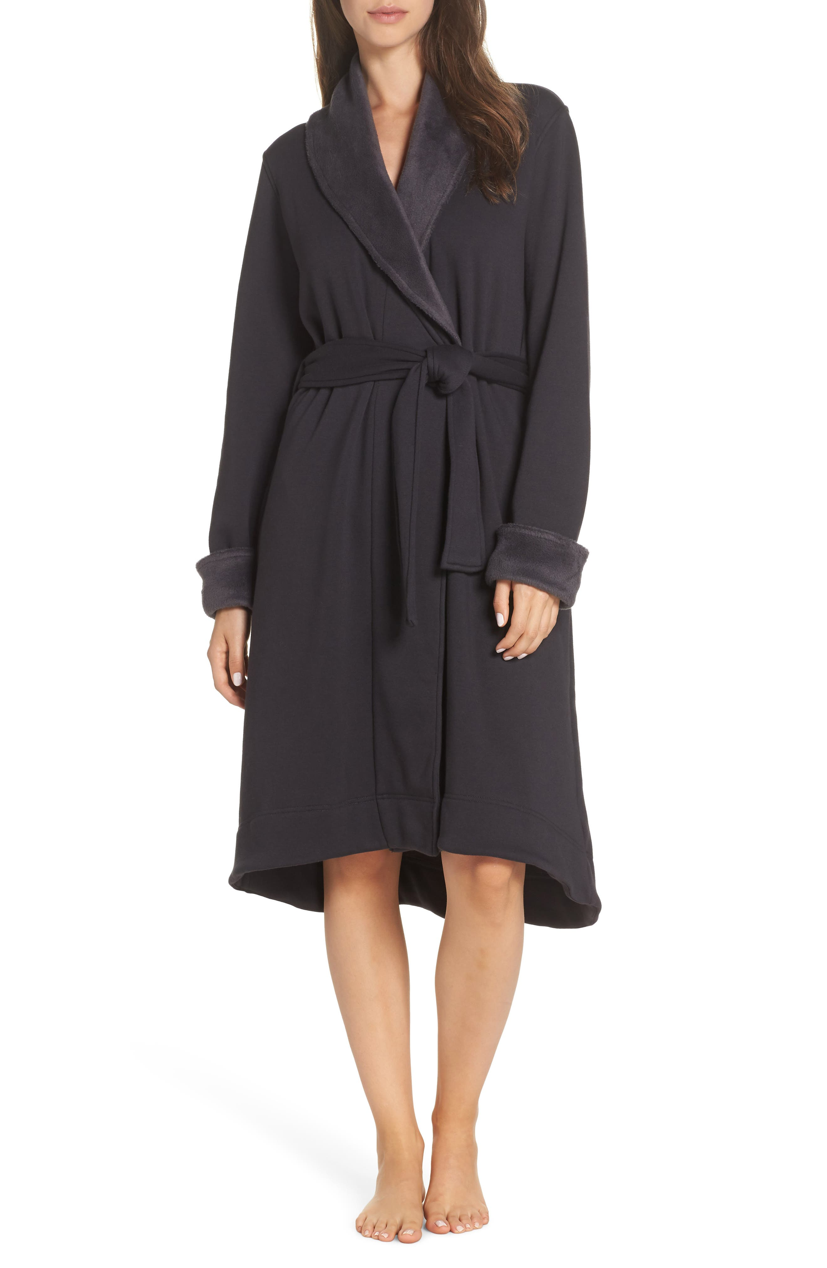 UGG<SUP>®</SUP>, Duffield II Robe, Main thumbnail 1, color, CHARCOAL