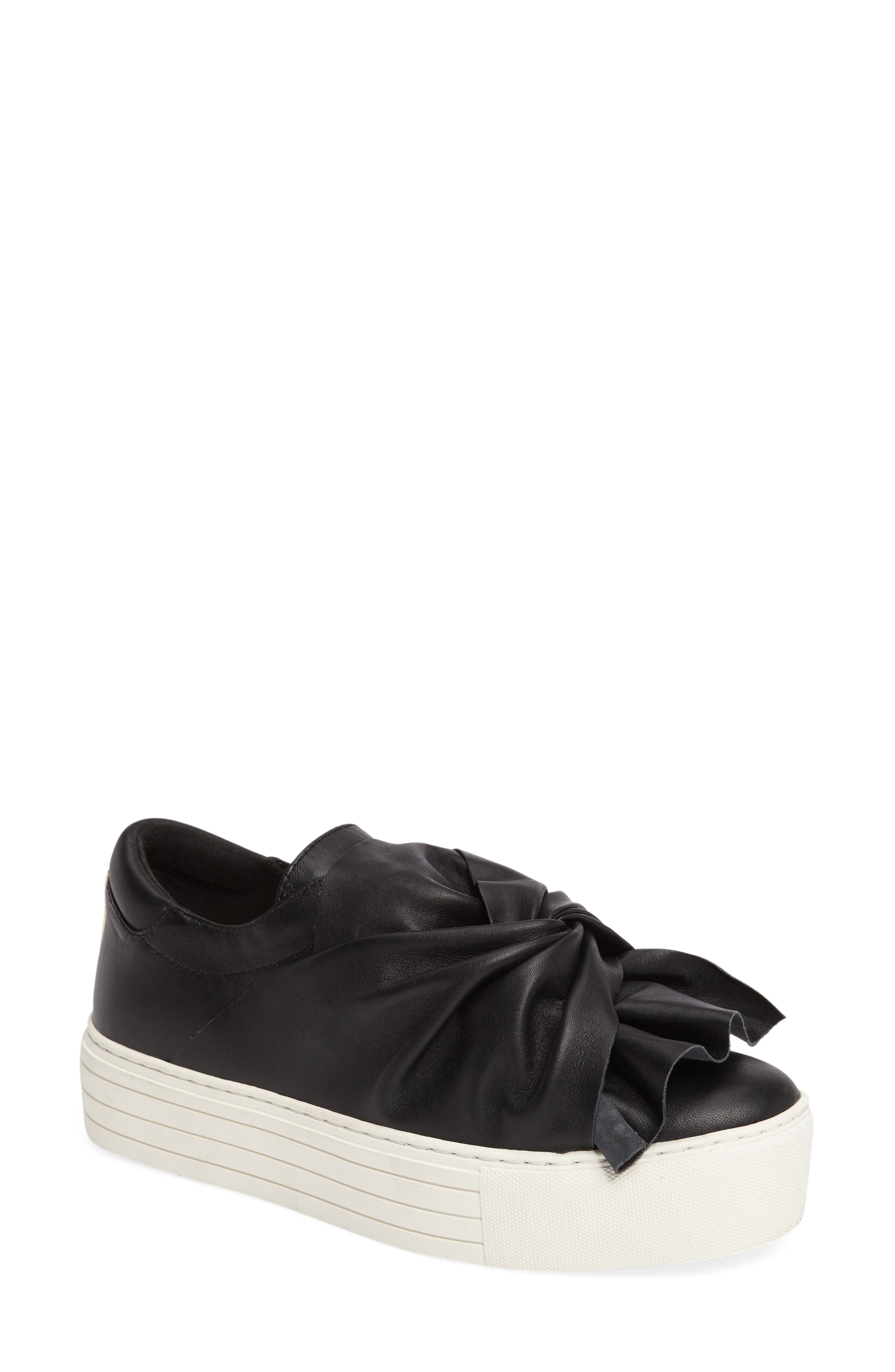 KENNETH COLE NEW YORK, Kenneth Cole Aaron Twisted Knot Flatform Sneaker, Main thumbnail 1, color, 001