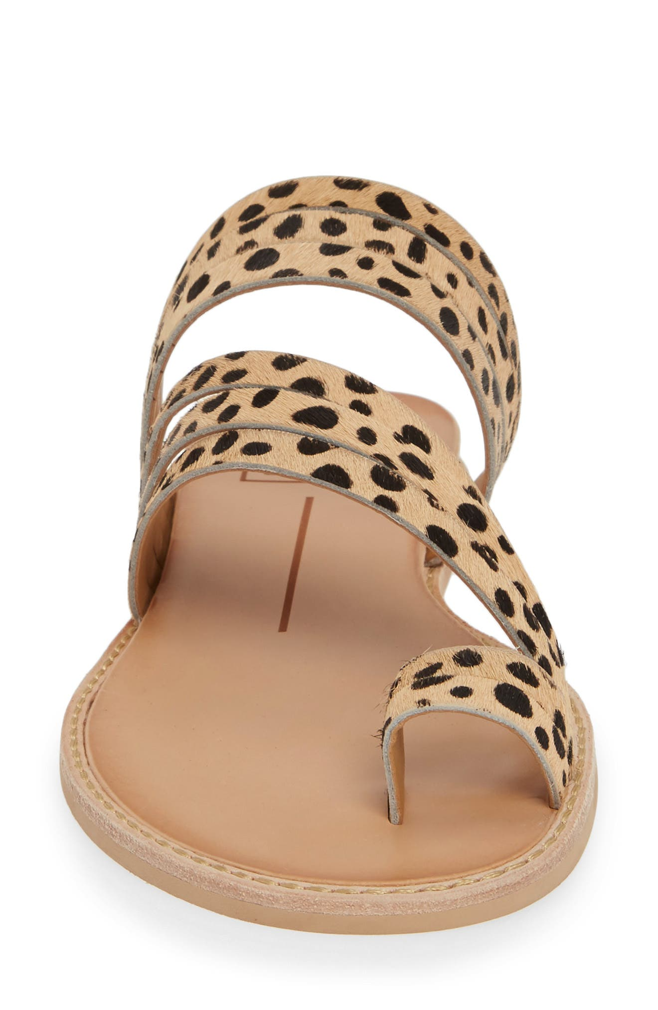 DOLCE VITA, Nelly Slide Sandal, Alternate thumbnail 4, color, LEOPARD CALF HAIR