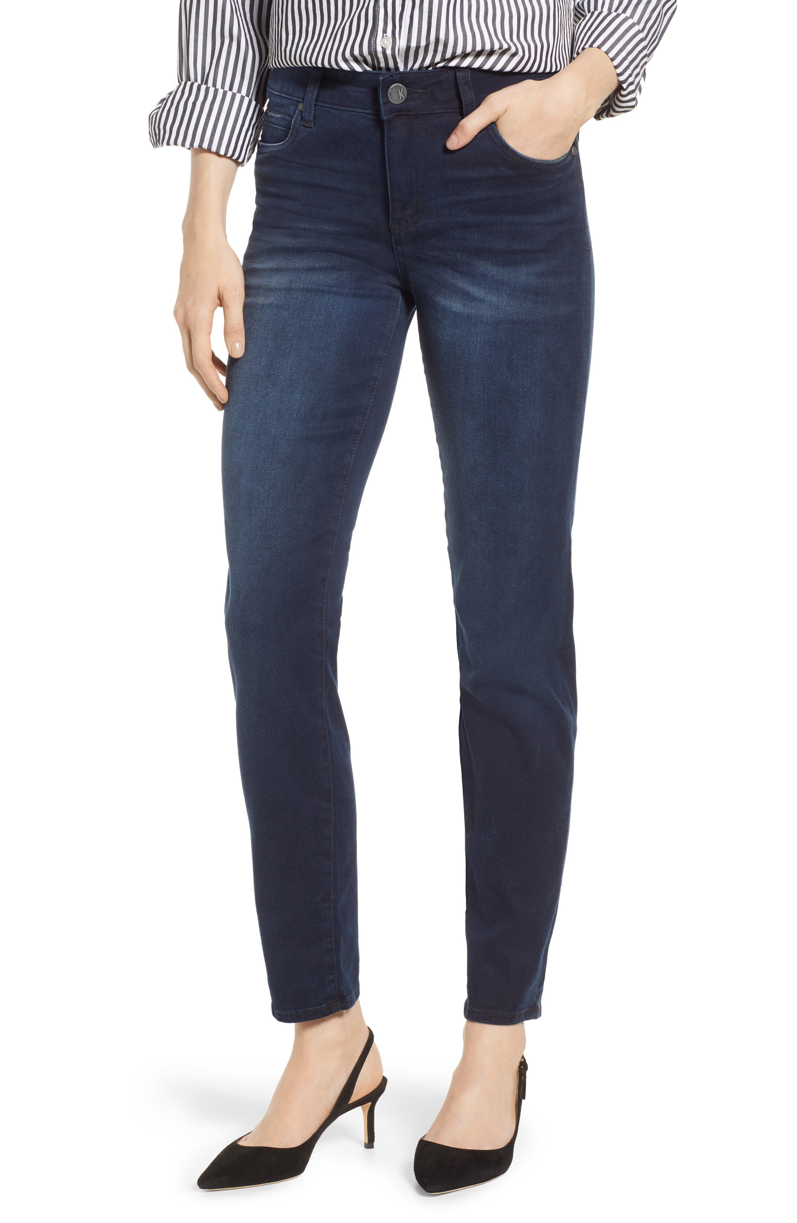 KUT FROM THE KLOTH Diana Skinny Jeans, Main, color, ART W/ EURO BASE WASH