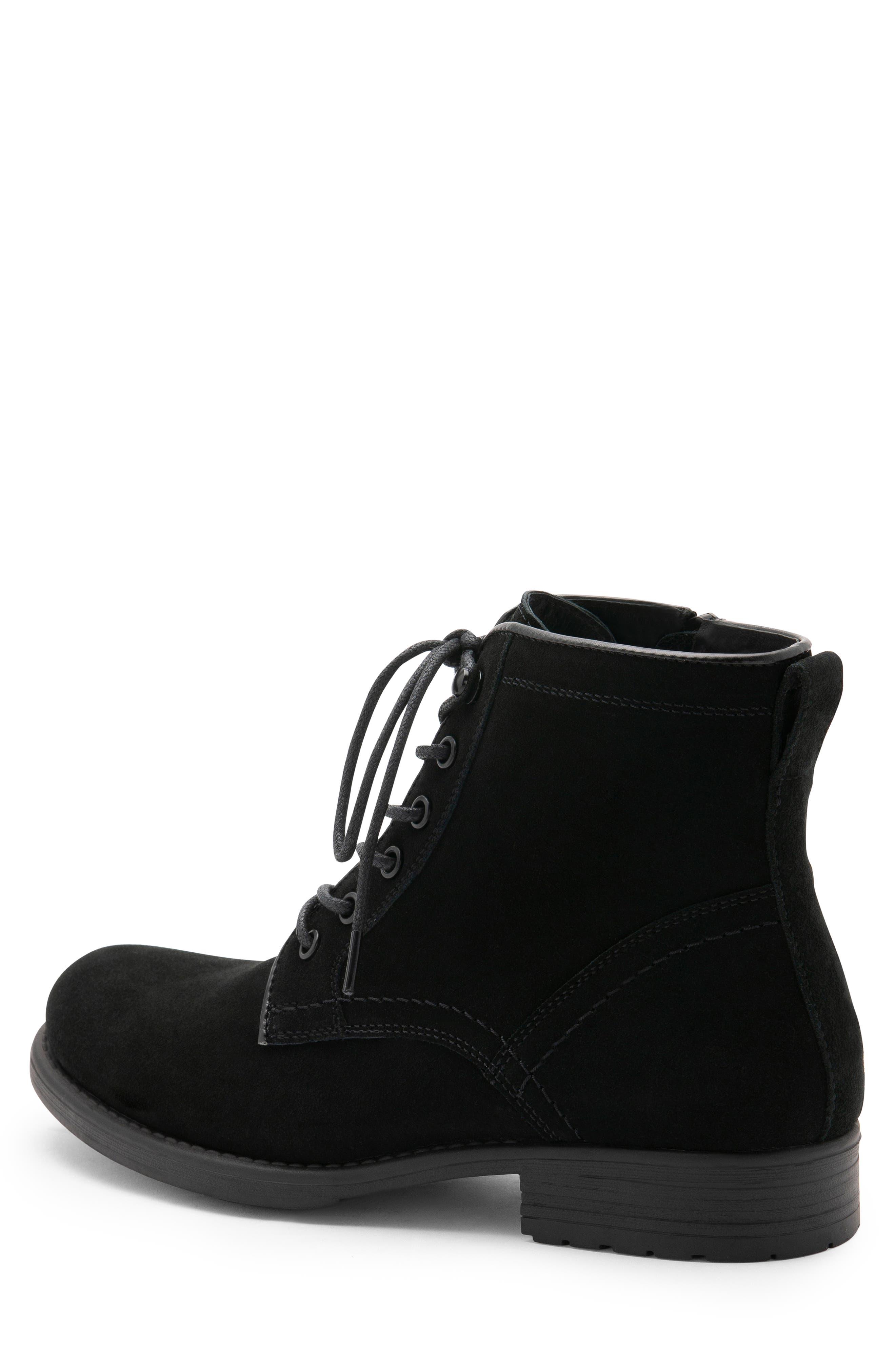 BLONDO, Peter Waterproof Plain Toe Boot, Alternate thumbnail 2, color, BLACK SUEDE