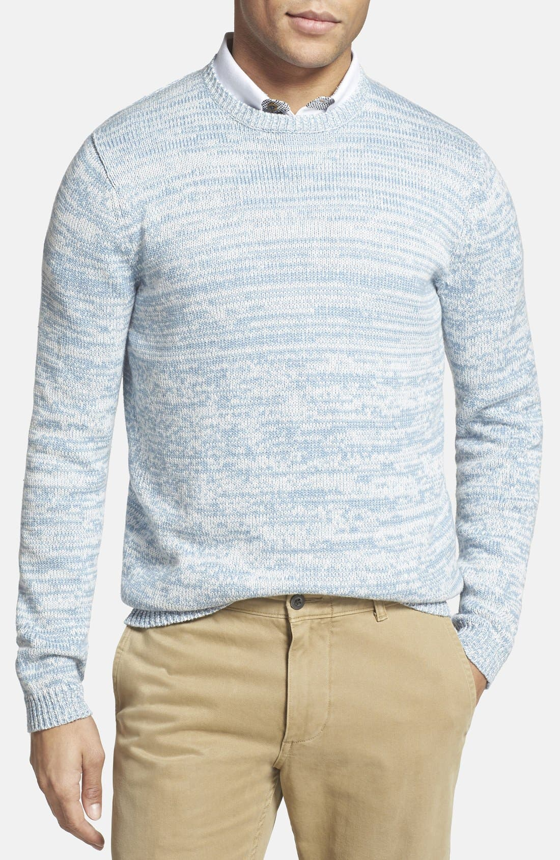 GRAYERS, 'Beach Marl' Crewneck Sweater, Main thumbnail 1, color, 465