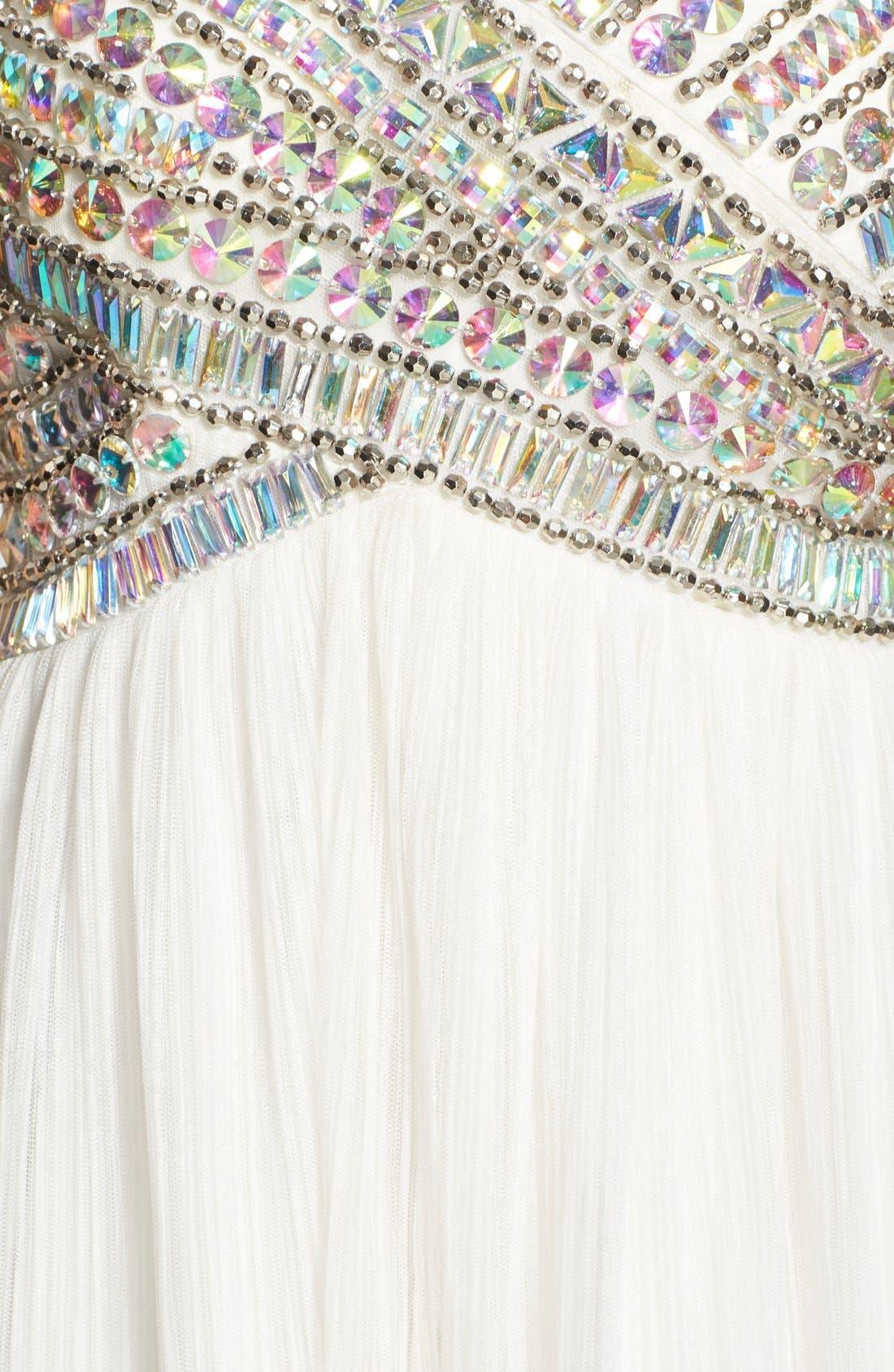 AS U WISH, Strapless Gem Bodice Dress, Alternate thumbnail 2, color, 100