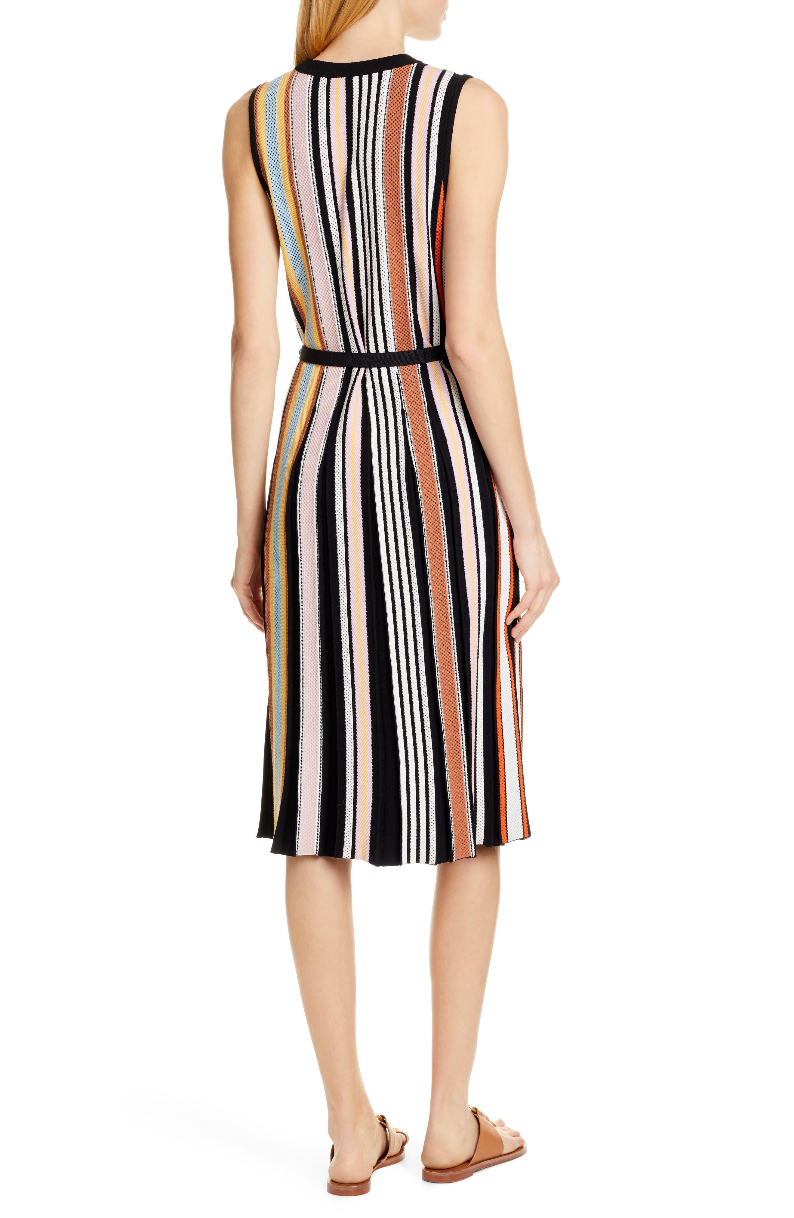 TORY BURCH, Stripe Sweater Dress, Alternate thumbnail 2, color, WEBBING STRIPE