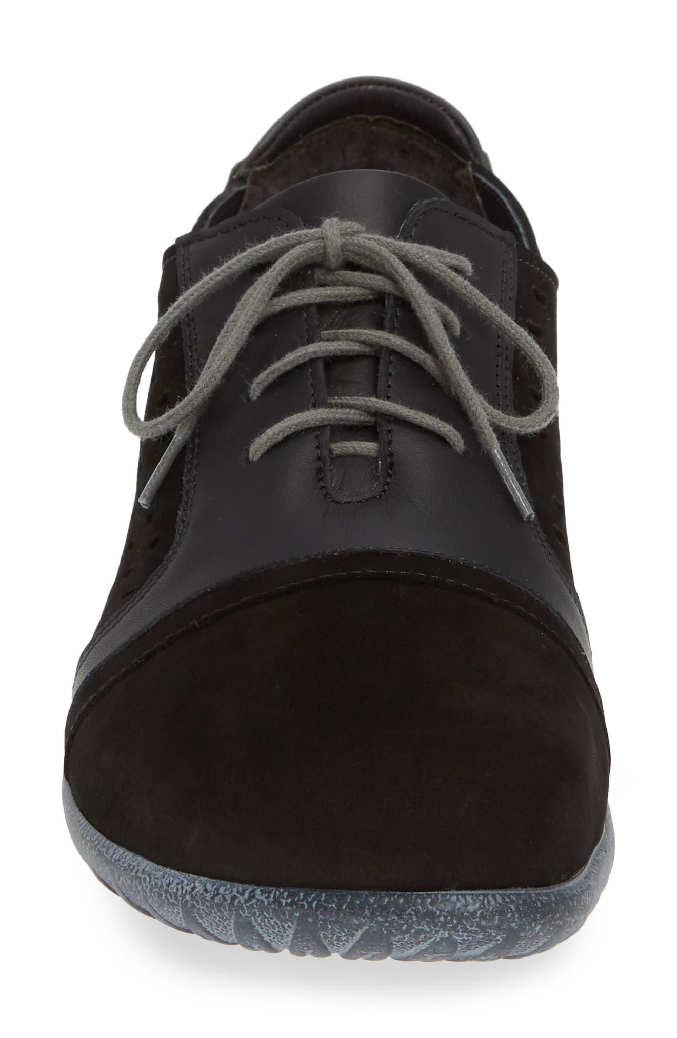 NAOT, Lalo Sneaker, Alternate thumbnail 4, color, BLACK NUBUCK