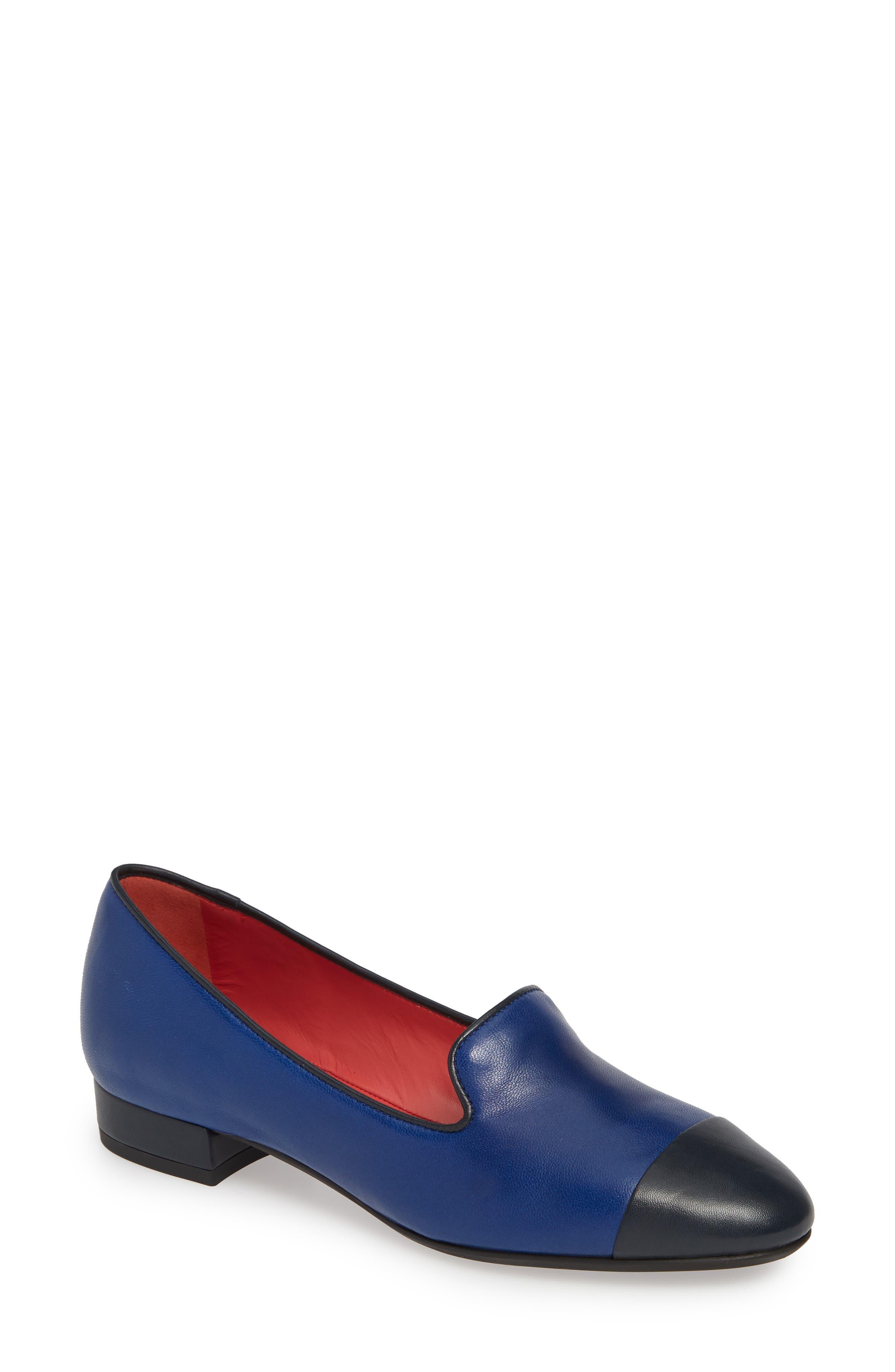 PAS DE ROUGE Daria Loafer, Main, color, DENIM/ BLUE LEATHER