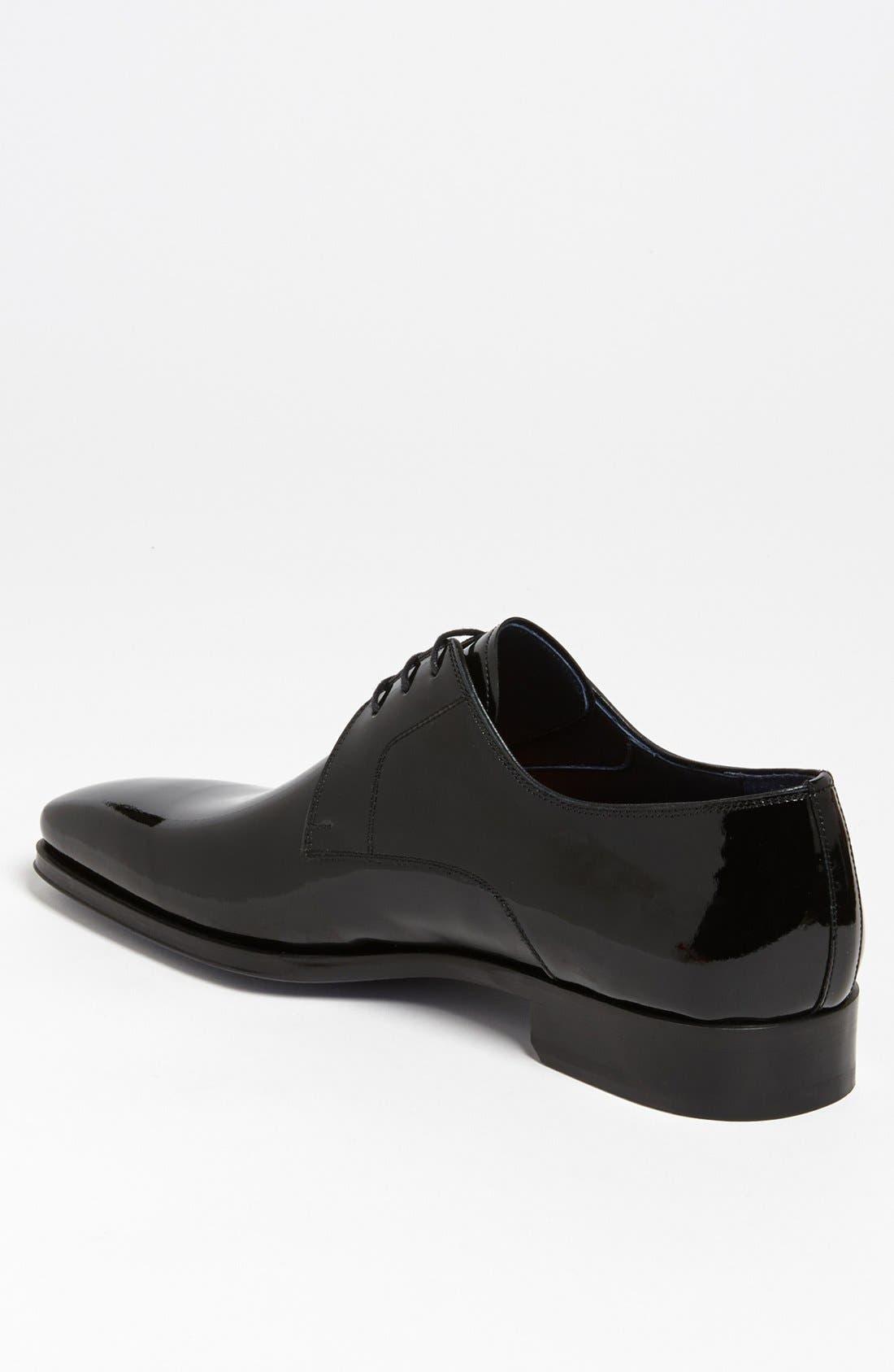MAGNANNI, 'Dante' Plain Toe Derby, Alternate thumbnail 3, color, BLACK