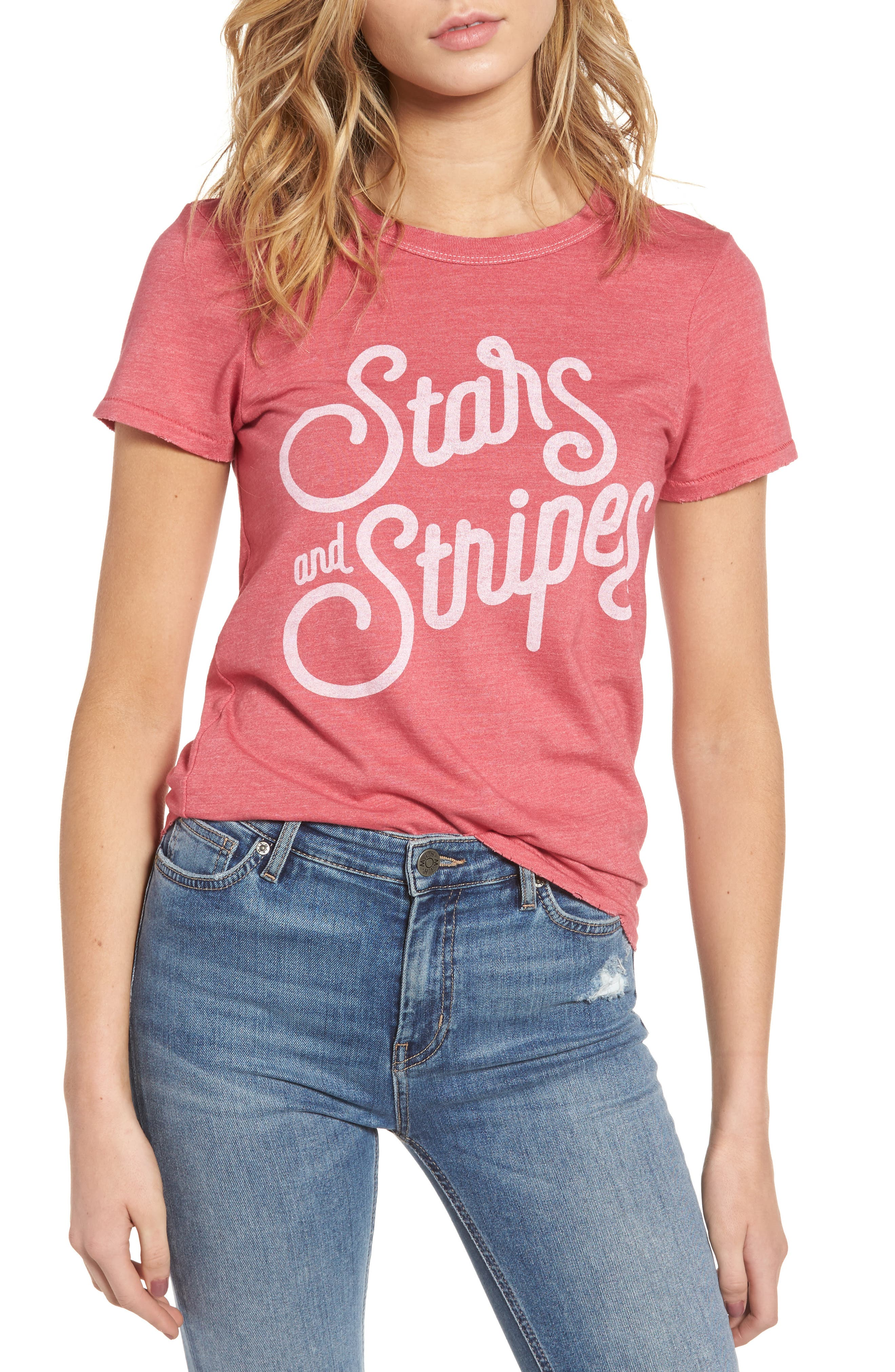 JUNK FOOD, Stars & Stripes Graphic Tee, Main thumbnail 1, color, 600