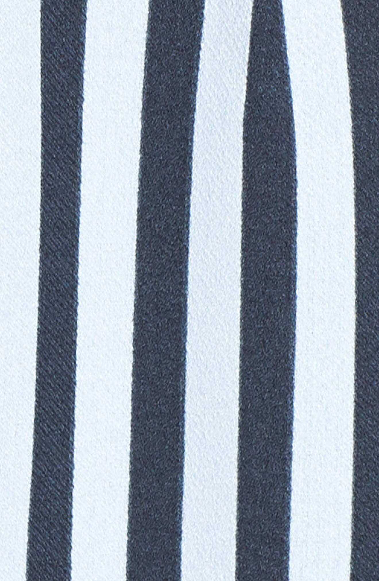 CHARLES HENRY, Stripe Tie Shoulder Jumpsuit, Alternate thumbnail 6, color, 400