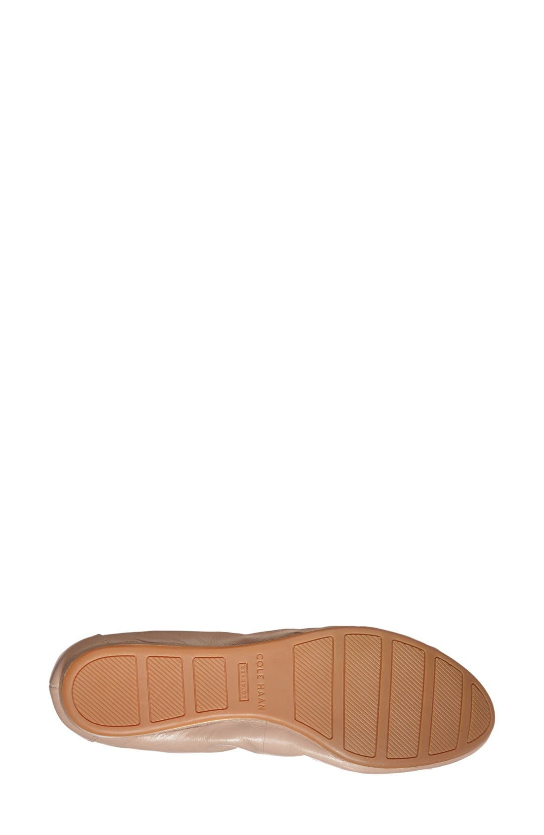 COLE HAAN, 'Tali' Bow Ballet Flat, Alternate thumbnail 4, color, MAPLE SUGAR