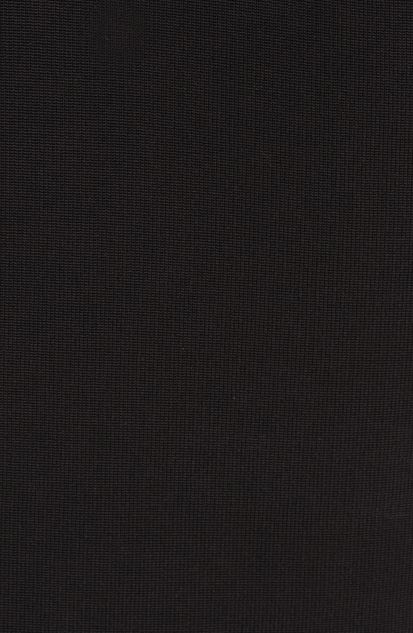 BRANDON MAXWELL, Side Drape Jersey Tank, Alternate thumbnail 5, color, BLACK