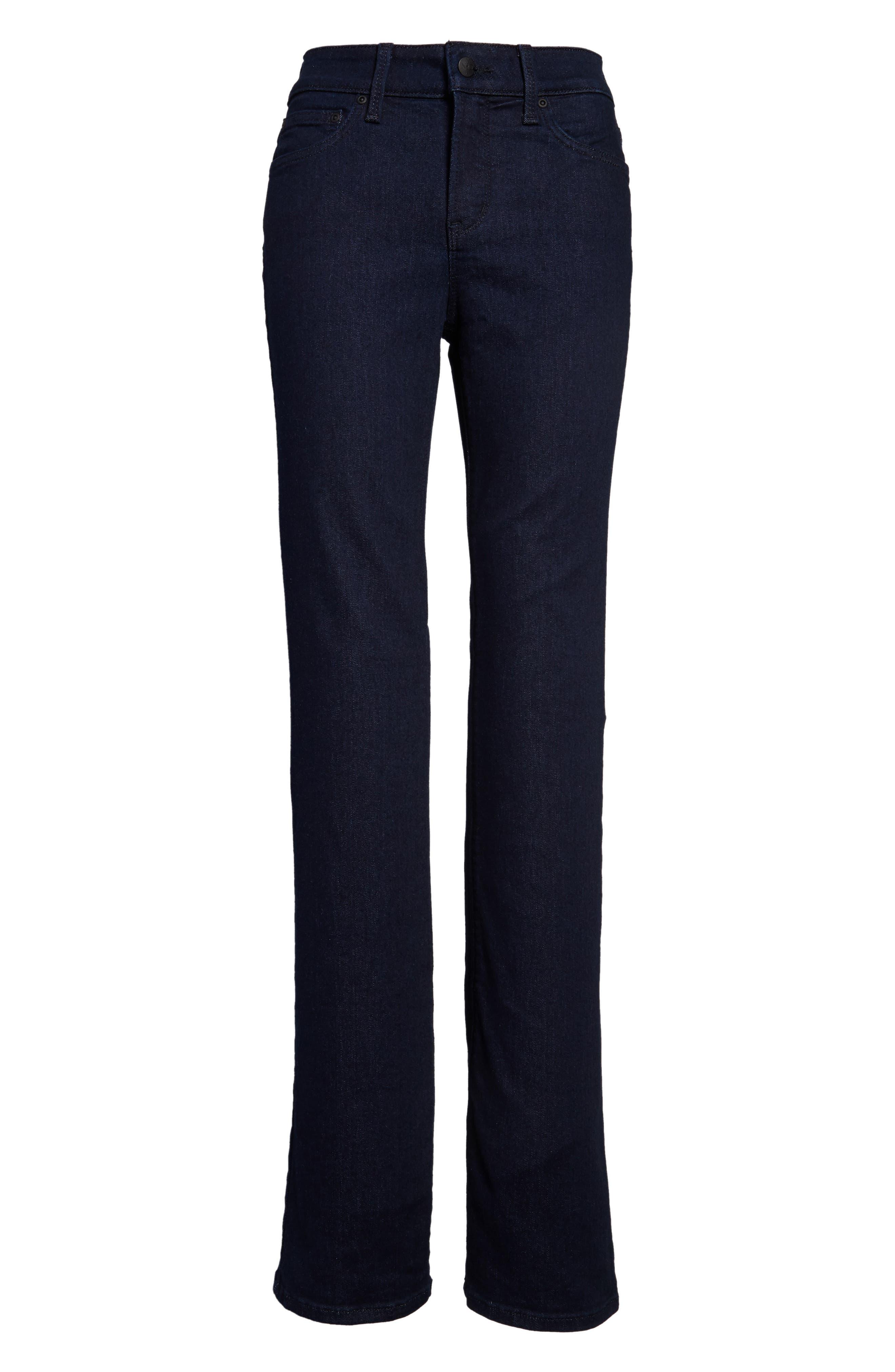 NYDJ, Barbara High Waist Stretch Bootcut Jeans, Alternate thumbnail 5, color, RINSE