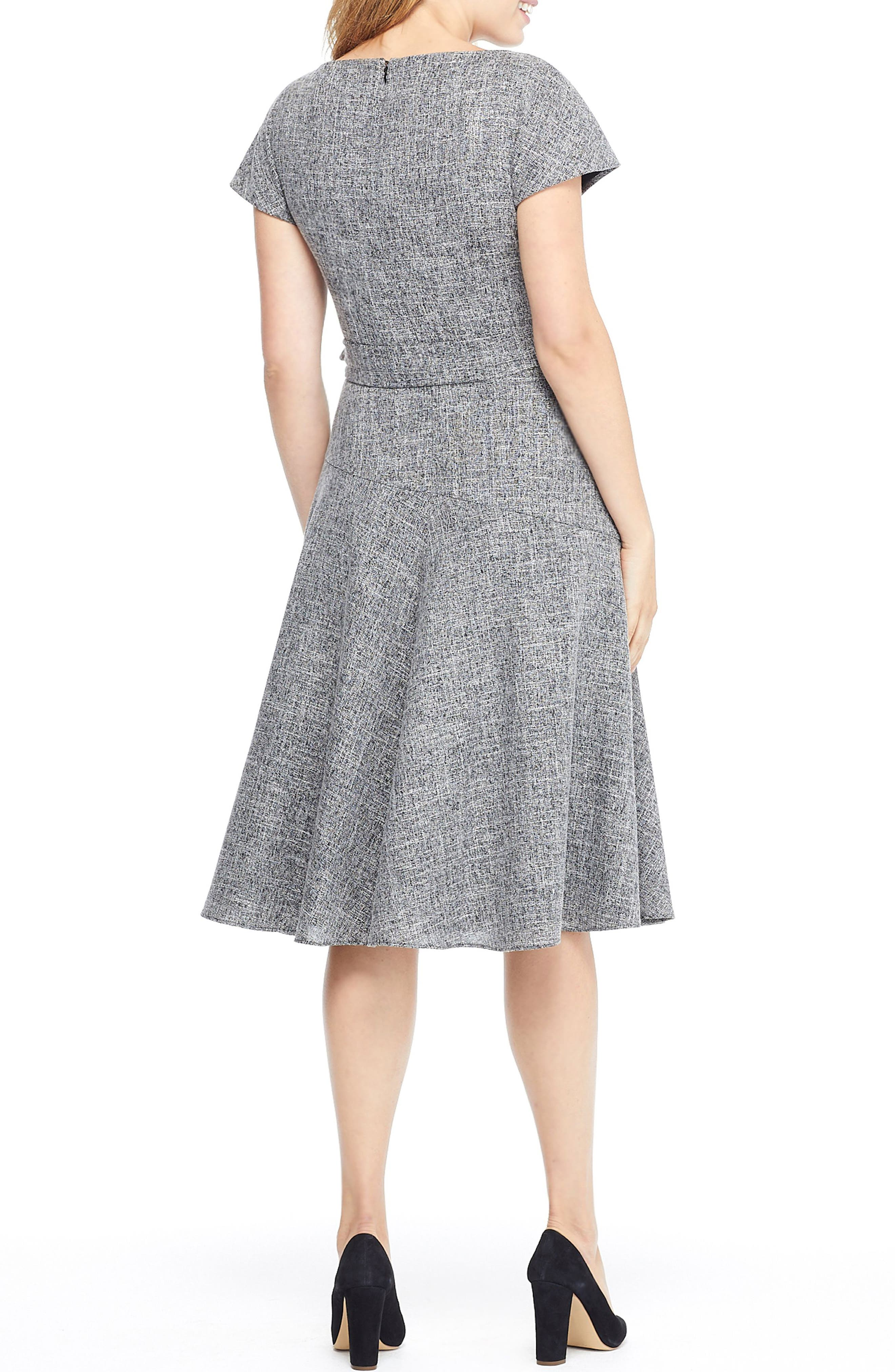 GAL MEETS GLAM COLLECTION, Barbara Yarn Dyed Boat Neck Dress, Alternate thumbnail 2, color, 060