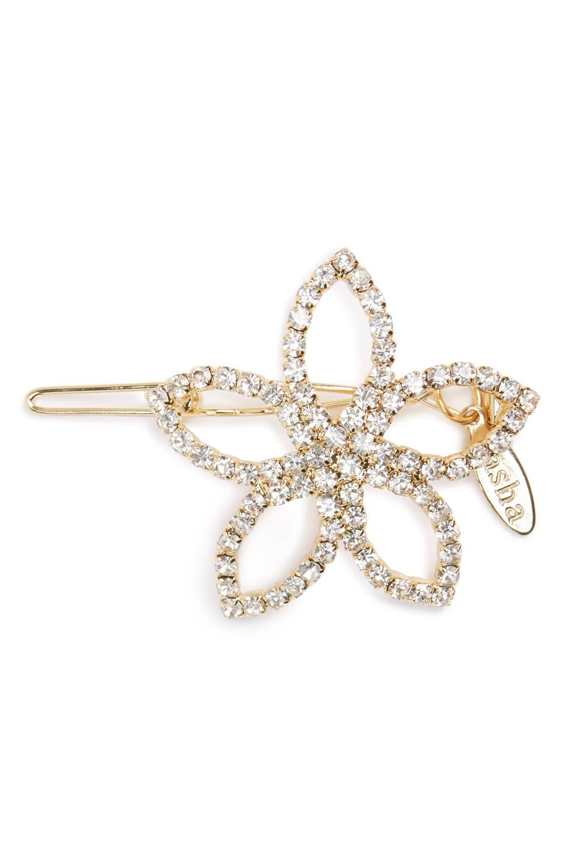 TASHA, Crystal Flower Barrette, Main thumbnail 1, color, 710