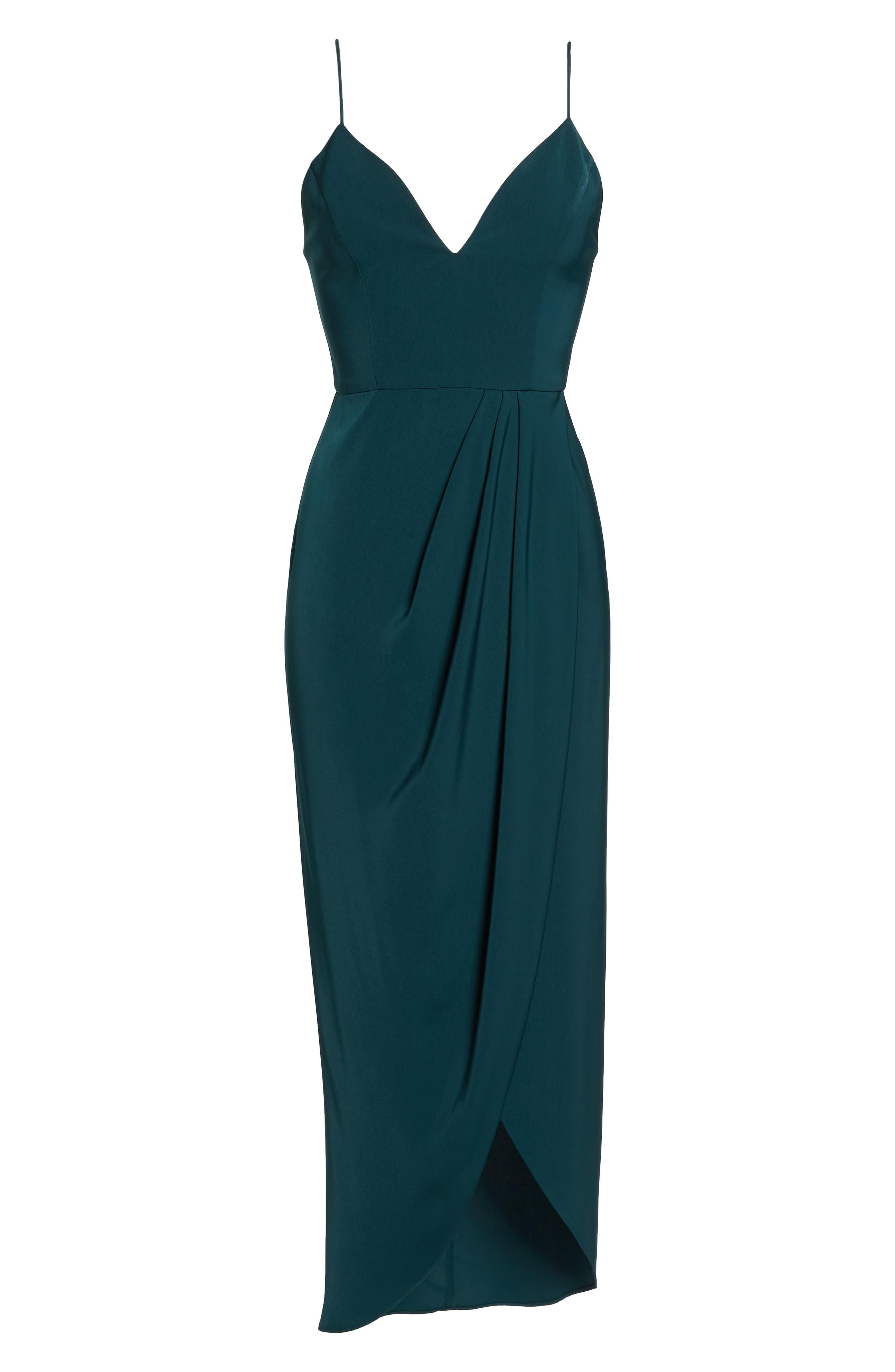 SHONA JOY, Tulip Hem Maxi Dress, Alternate thumbnail 7, color, SEAWEED