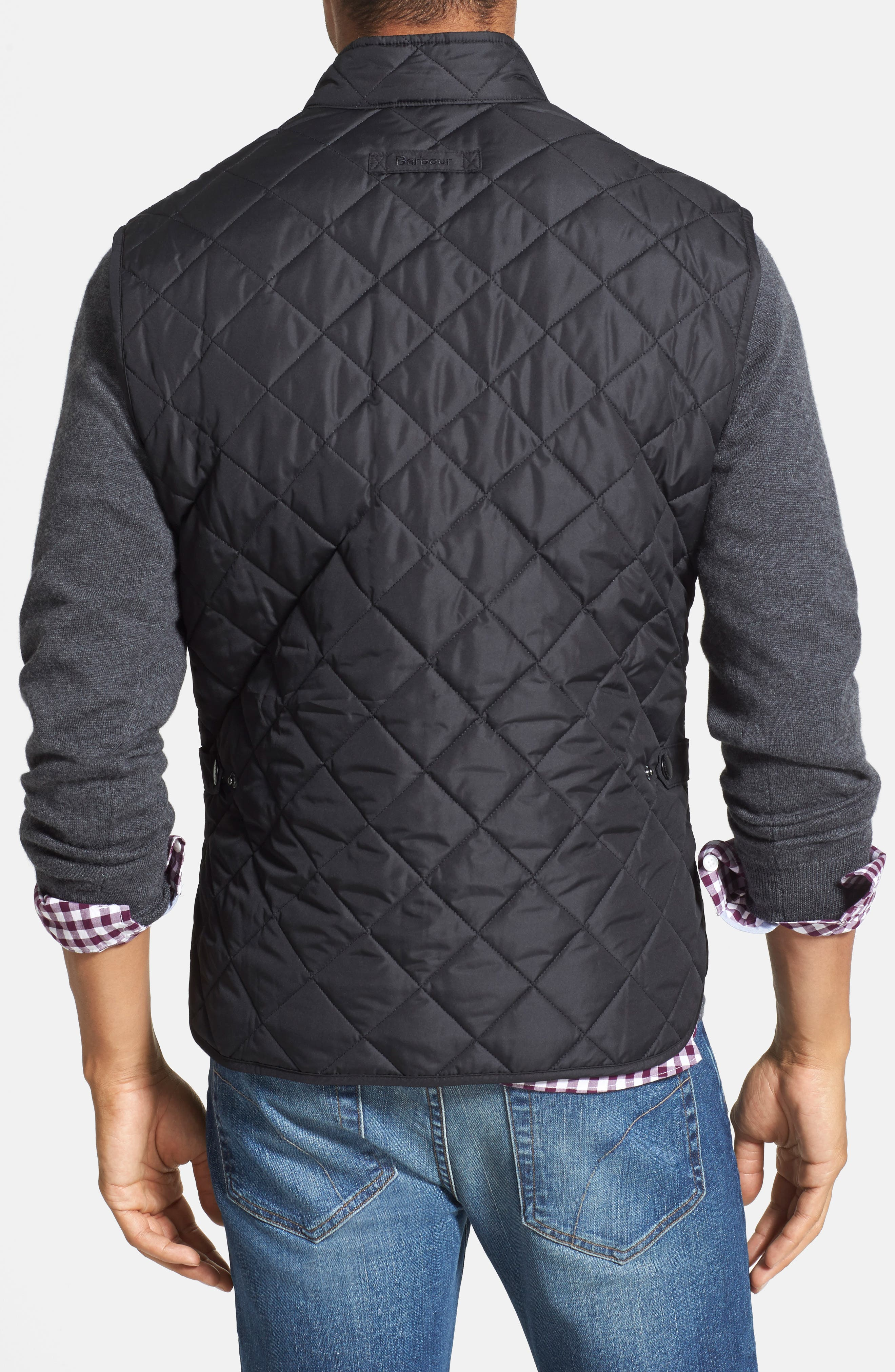 BARBOUR, Lowerdale Quilted Vest, Main thumbnail 1, color, 001