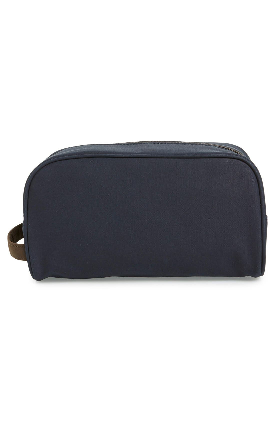 BARBOUR, Waxed Canvas Travel Kit, Alternate thumbnail 3, color, 410