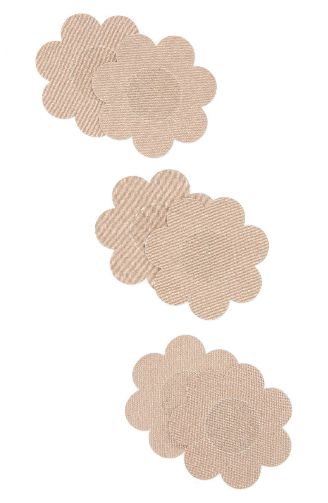 NORDSTROM LINGERIE, 3-Pack Breast Petals, Alternate thumbnail 2, color, NUDE