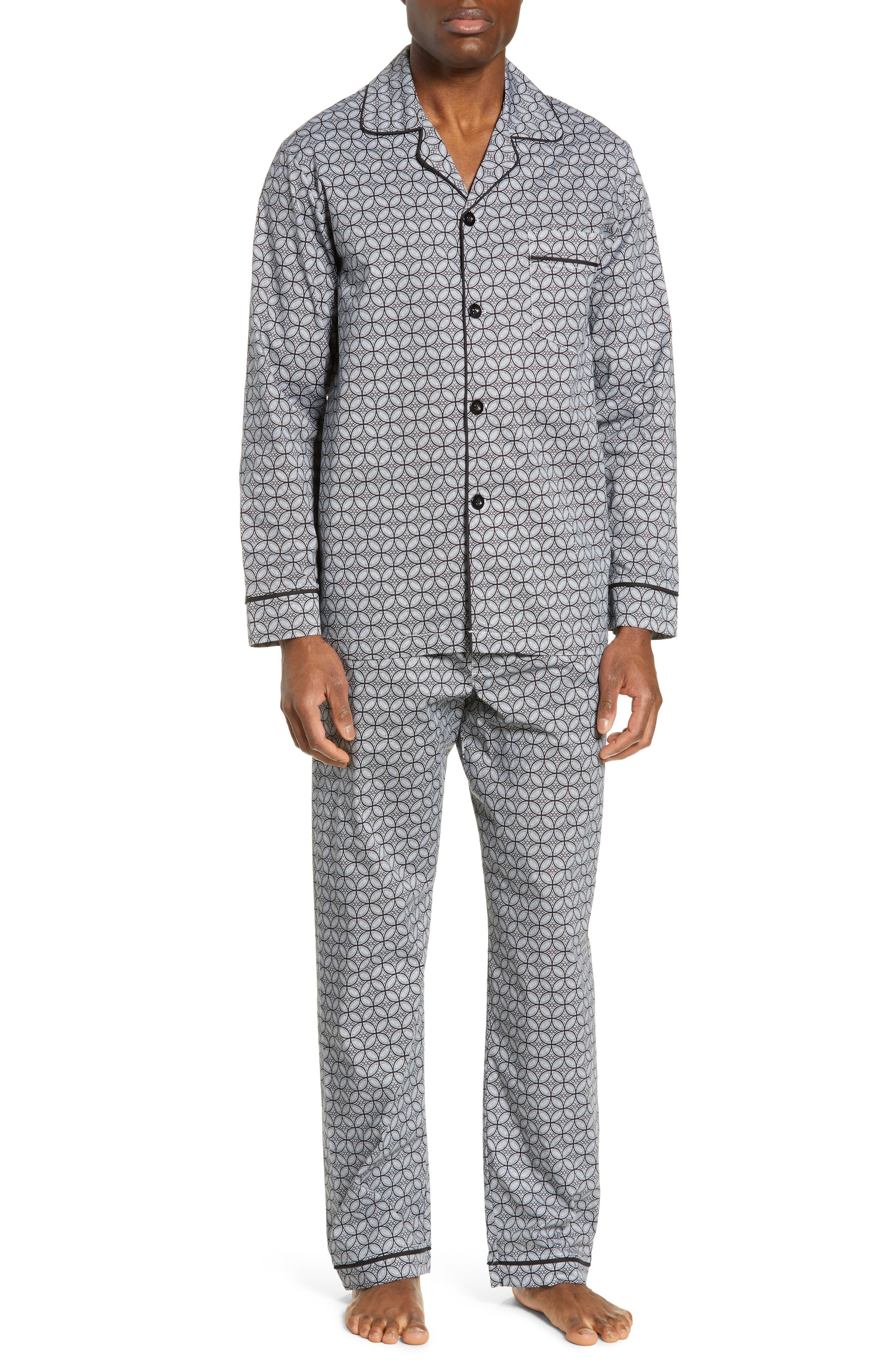 MAJESTIC INTERNATIONAL Marbella Stretch Sateen Pajamas, Main, color, BLACK
