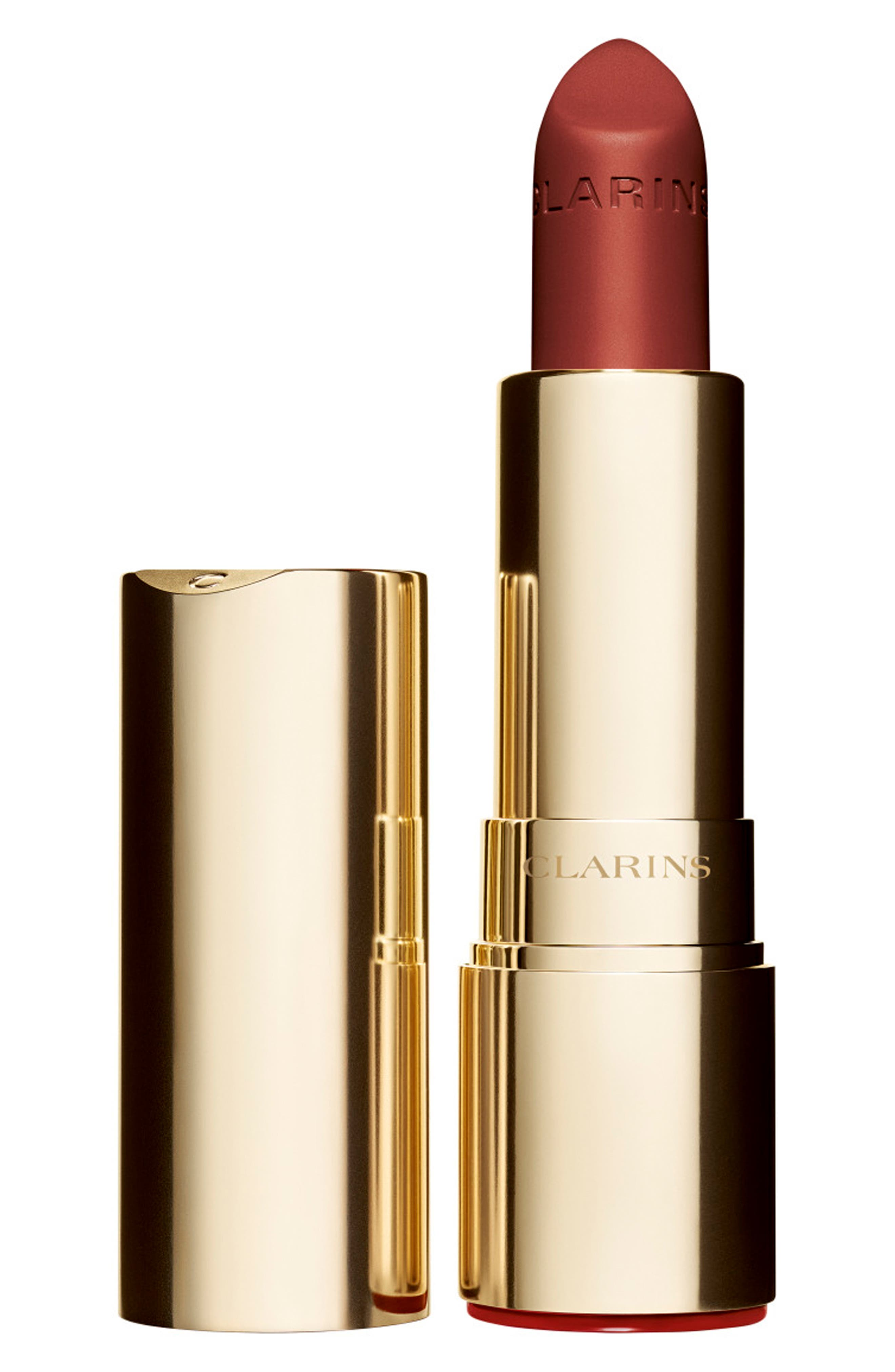 CLARINS, Joli Rouge Velvet Matte Lipstick, Main thumbnail 1, color, 737 SPICY CINNAMON