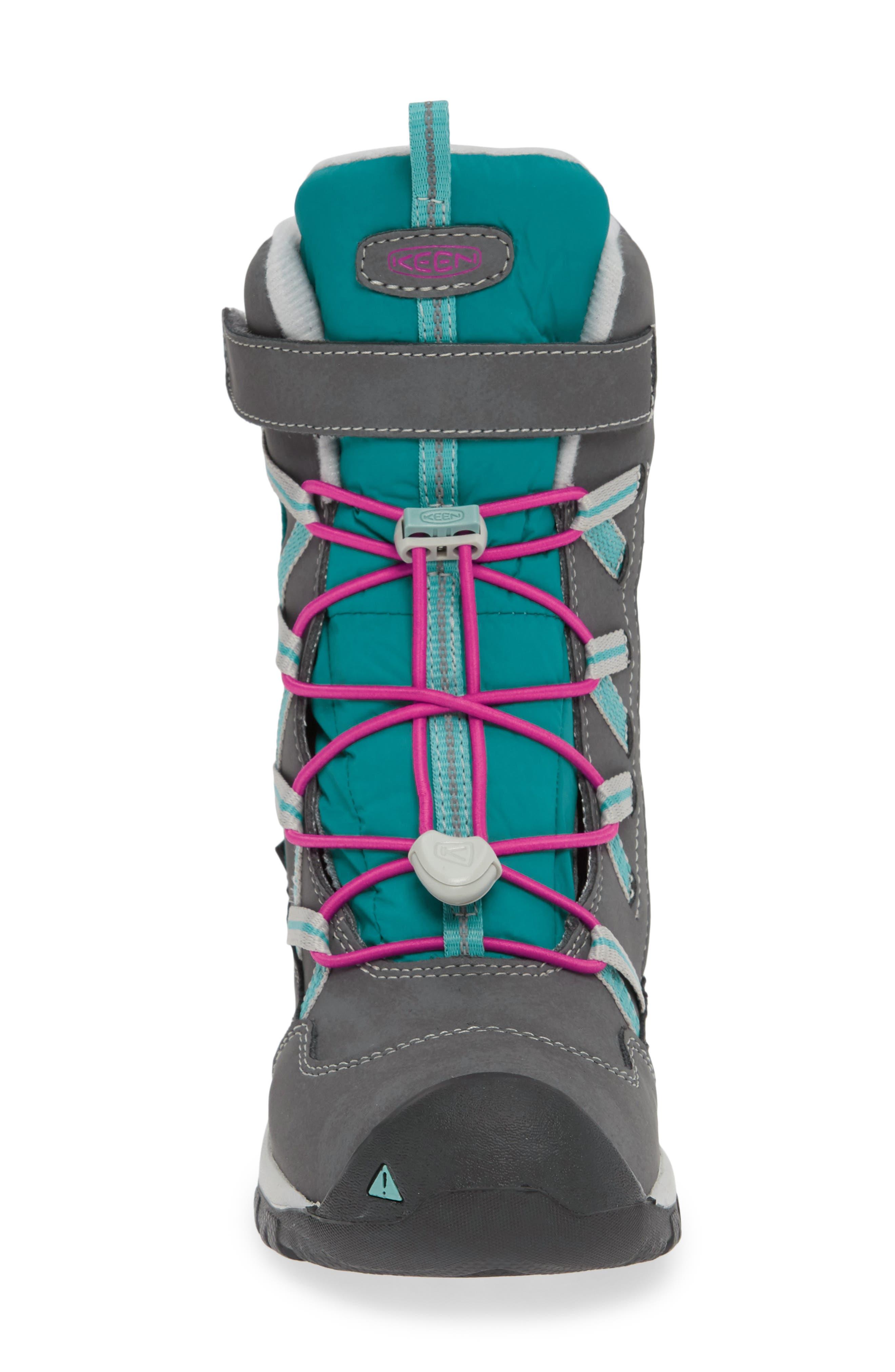 KEEN, Hoodoo Waterproof Insulated Boot, Alternate thumbnail 4, color, STEEL GREY/ CABARET