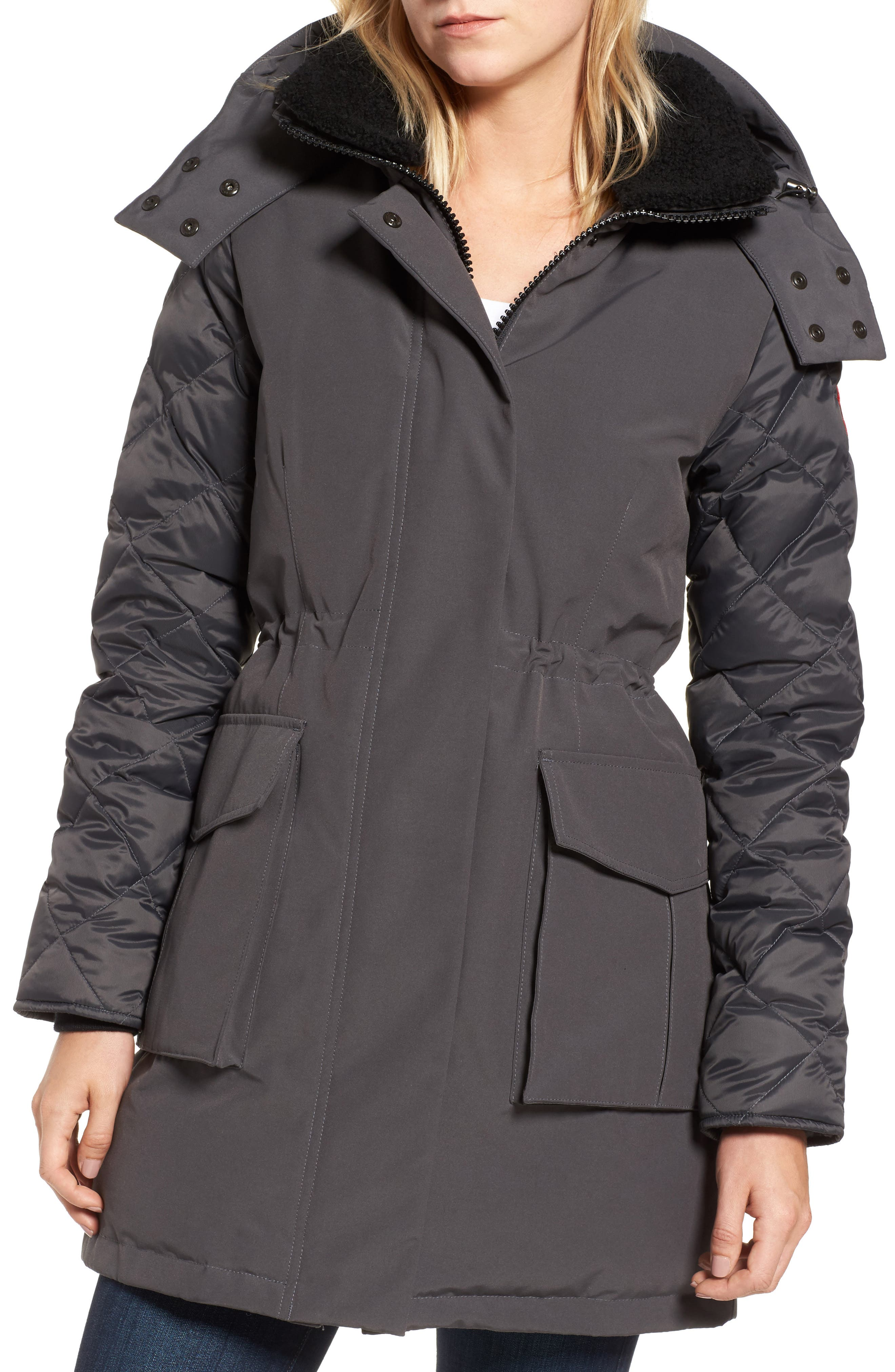 CANADA GOOSE, Elwin Power Fill Down Jacket, Alternate thumbnail 5, color, GRAPHITE
