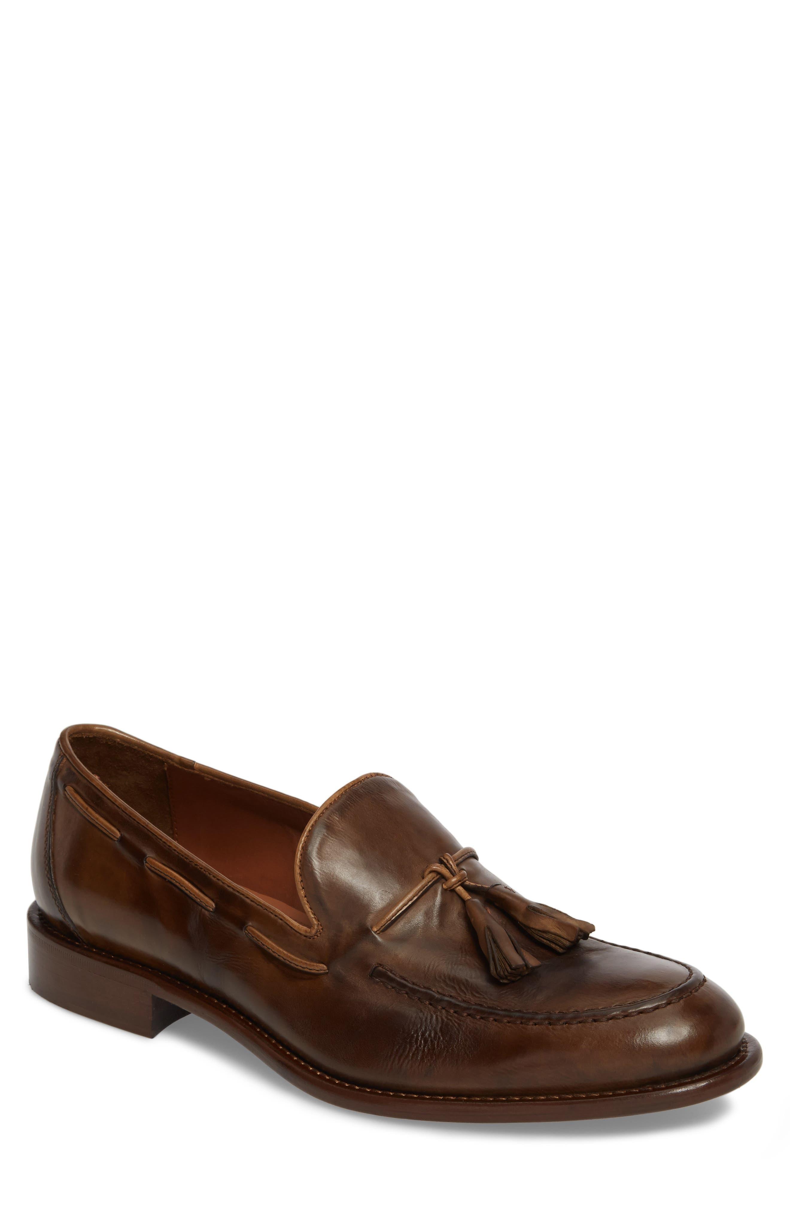 J&M 1850 Bryson Tassel Loafer, Main, color, TOBACCO