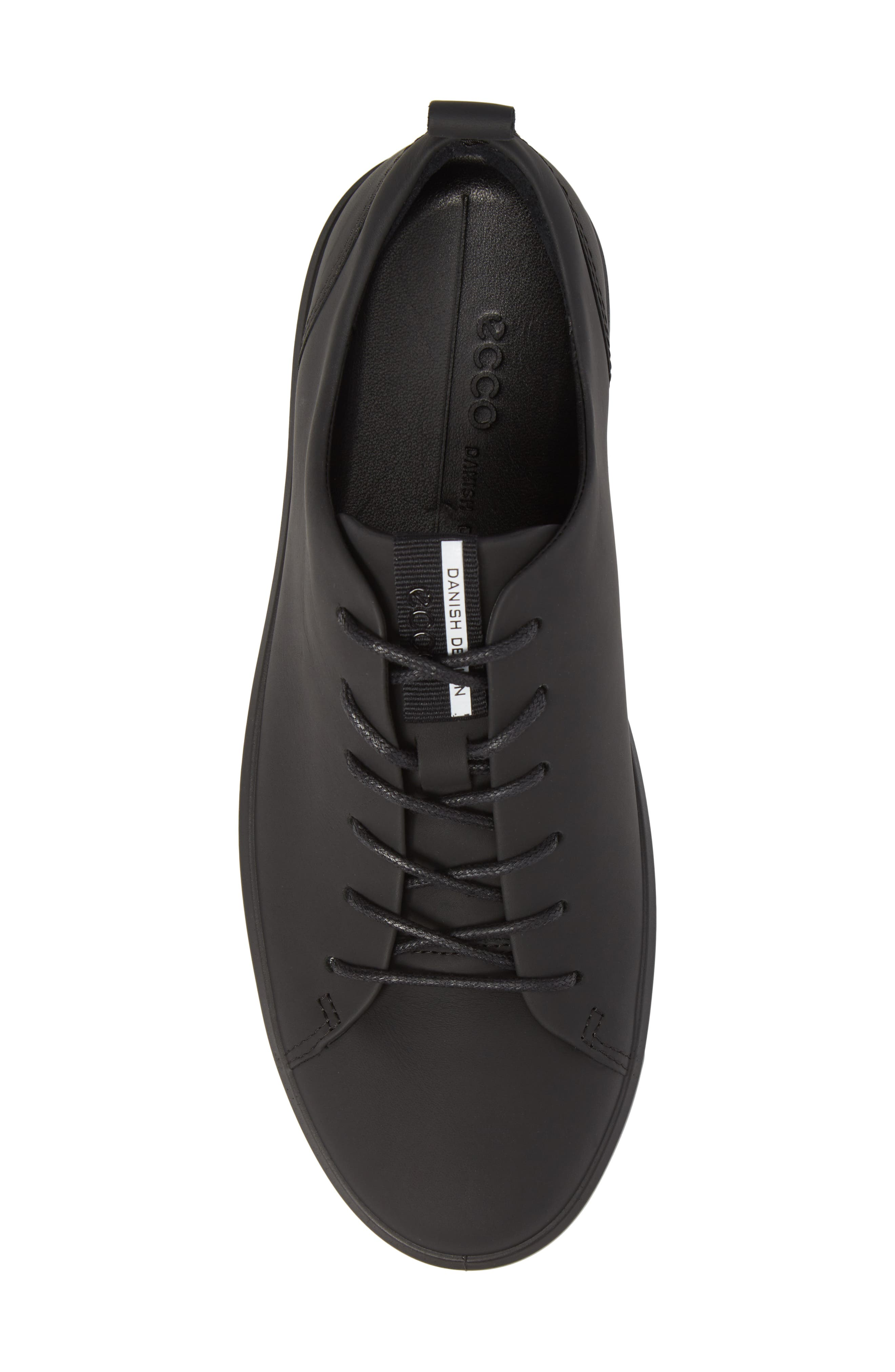 ECCO, Soft 8 Sneaker, Alternate thumbnail 5, color, BLACK LEATHER