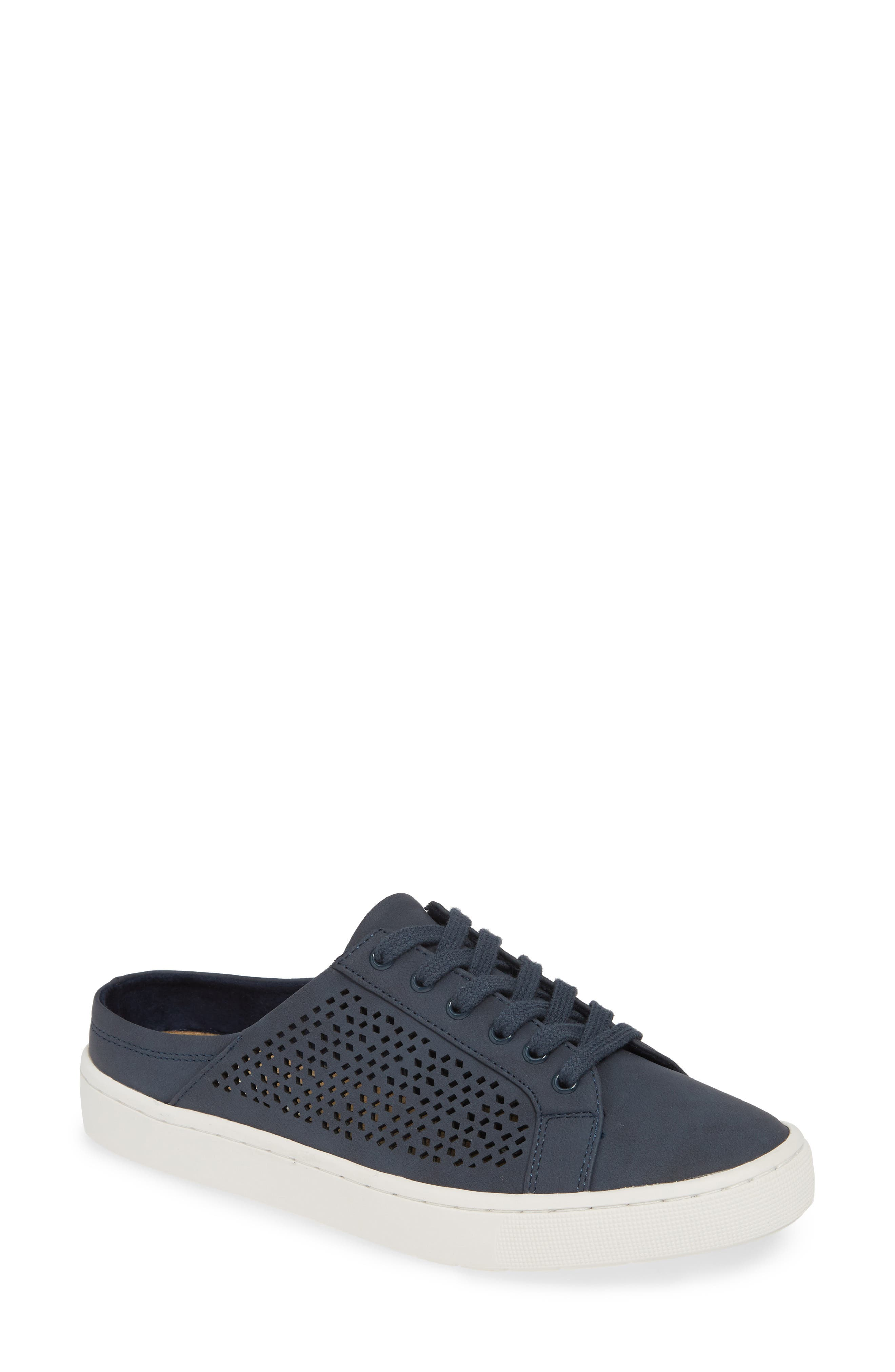 BELLA VITA, Star Open Back Sneaker, Main thumbnail 1, color, DENIM FABRIC