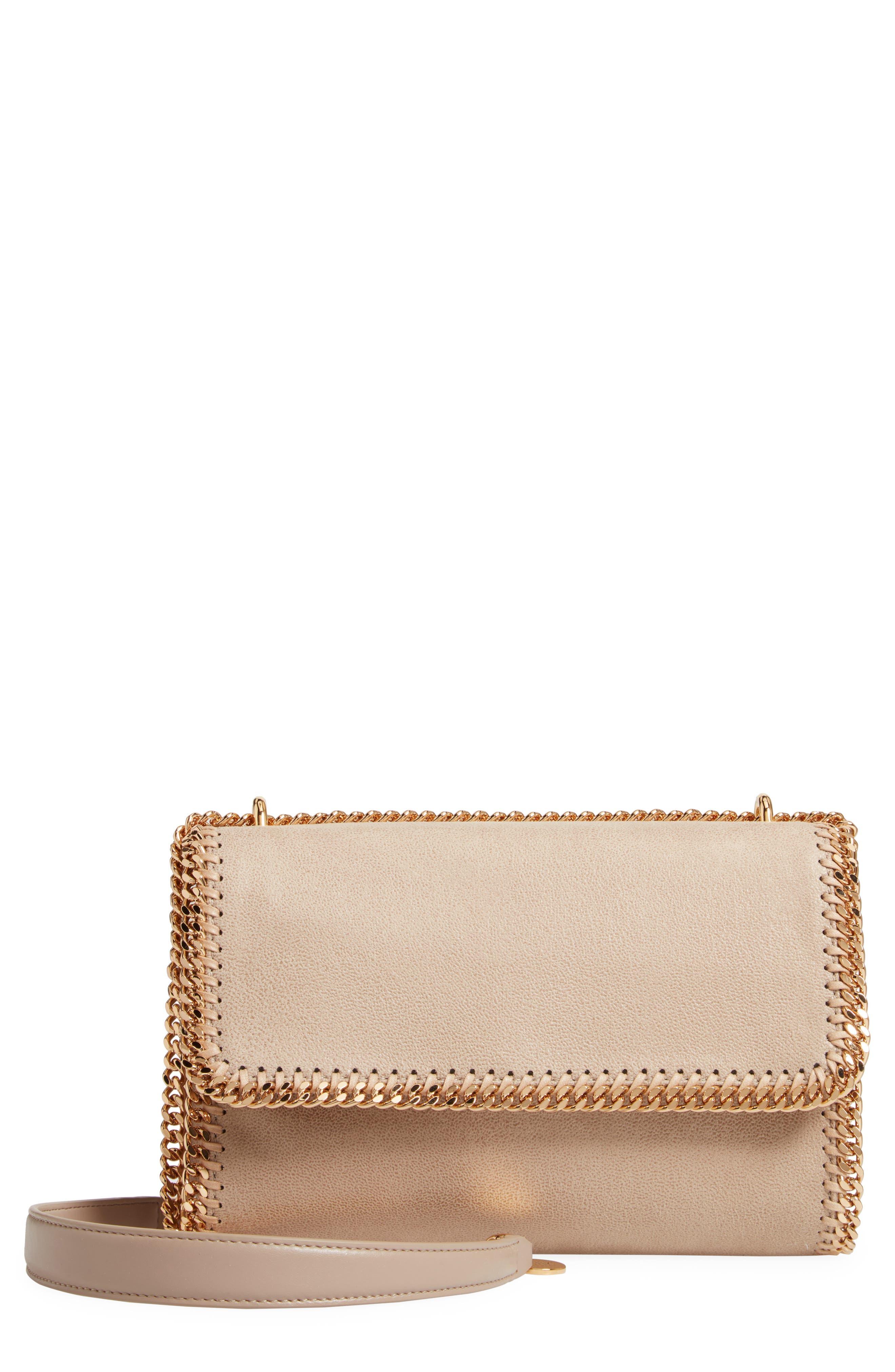 STELLA MCCARTNEY, Falabella Shaggy Deer Faux Leather Shoulder Bag, Main thumbnail 1, color, CLOTTED CREAM