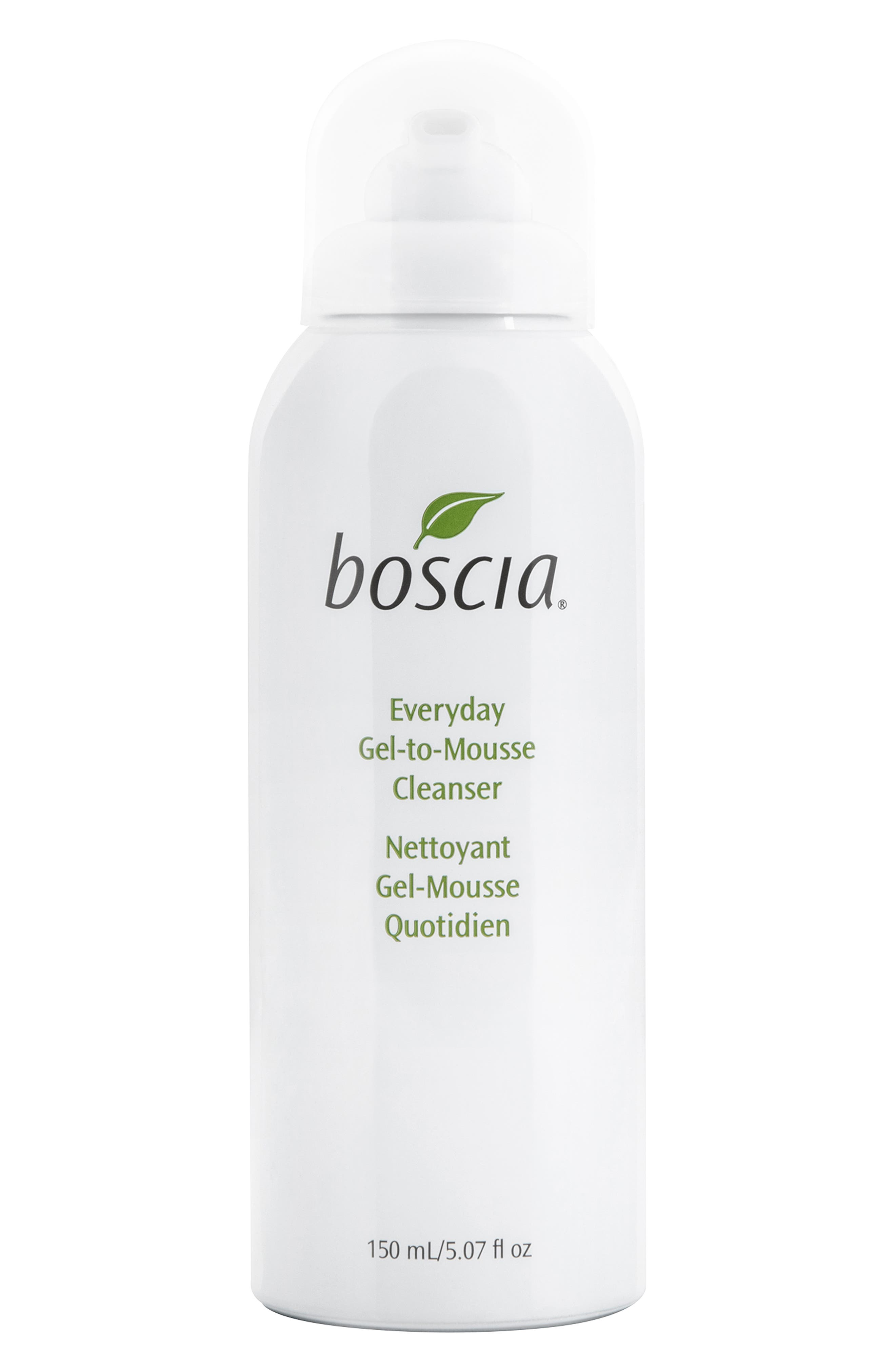 BOSCIA Everyday Gel-to-Mousse Cleanser, Main, color, NO COLOR