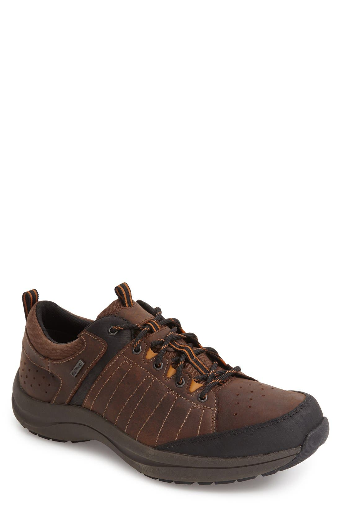 DUNHAM Seth-Dun Waterproof Sneaker, Main, color, BROWN LEATHER