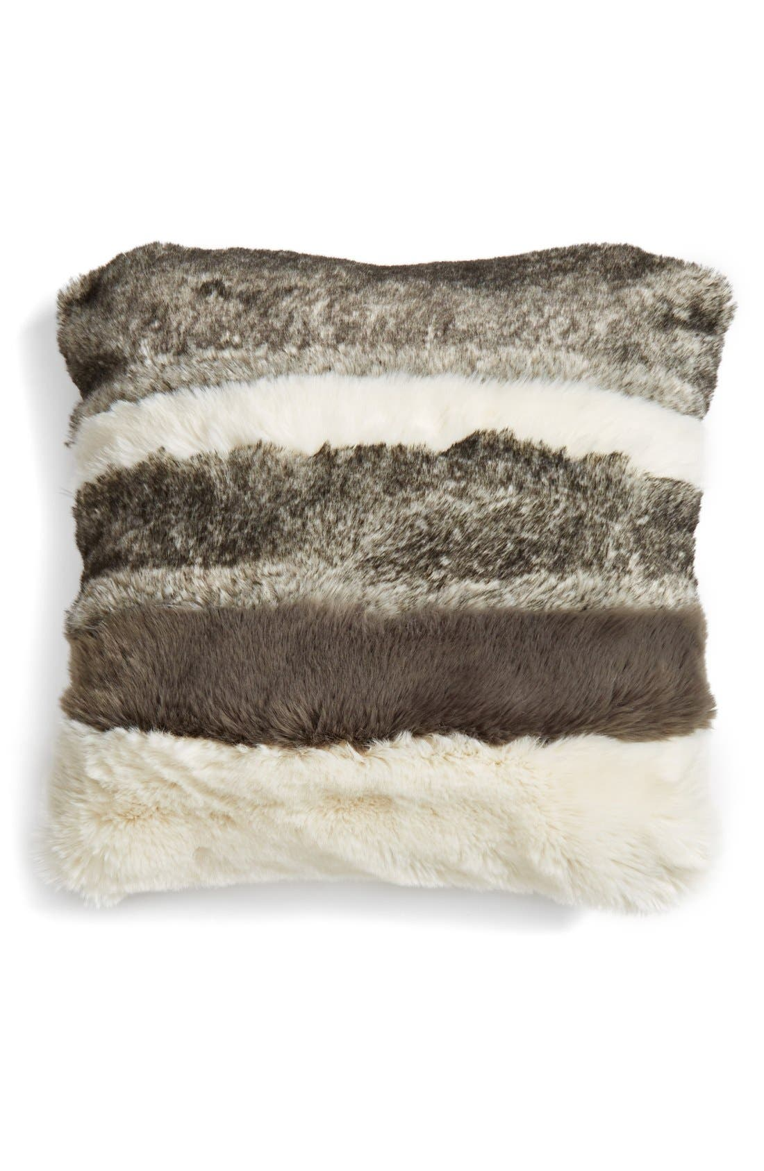 NORDSTROM AT HOME, Faux Fur Pillow, Main thumbnail 1, color, 900