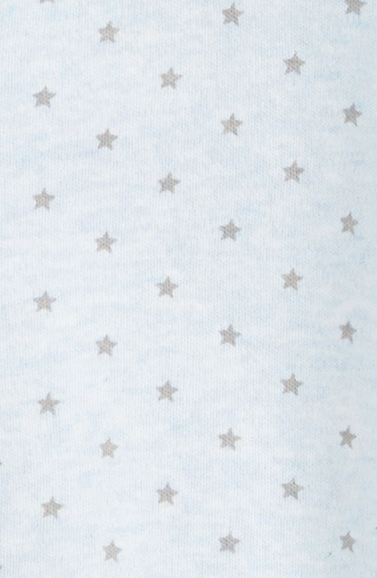 NORDSTROM BABY, Convertible Gown, Alternate thumbnail 3, color, BLUE PRECIOUS HEATHER STARS