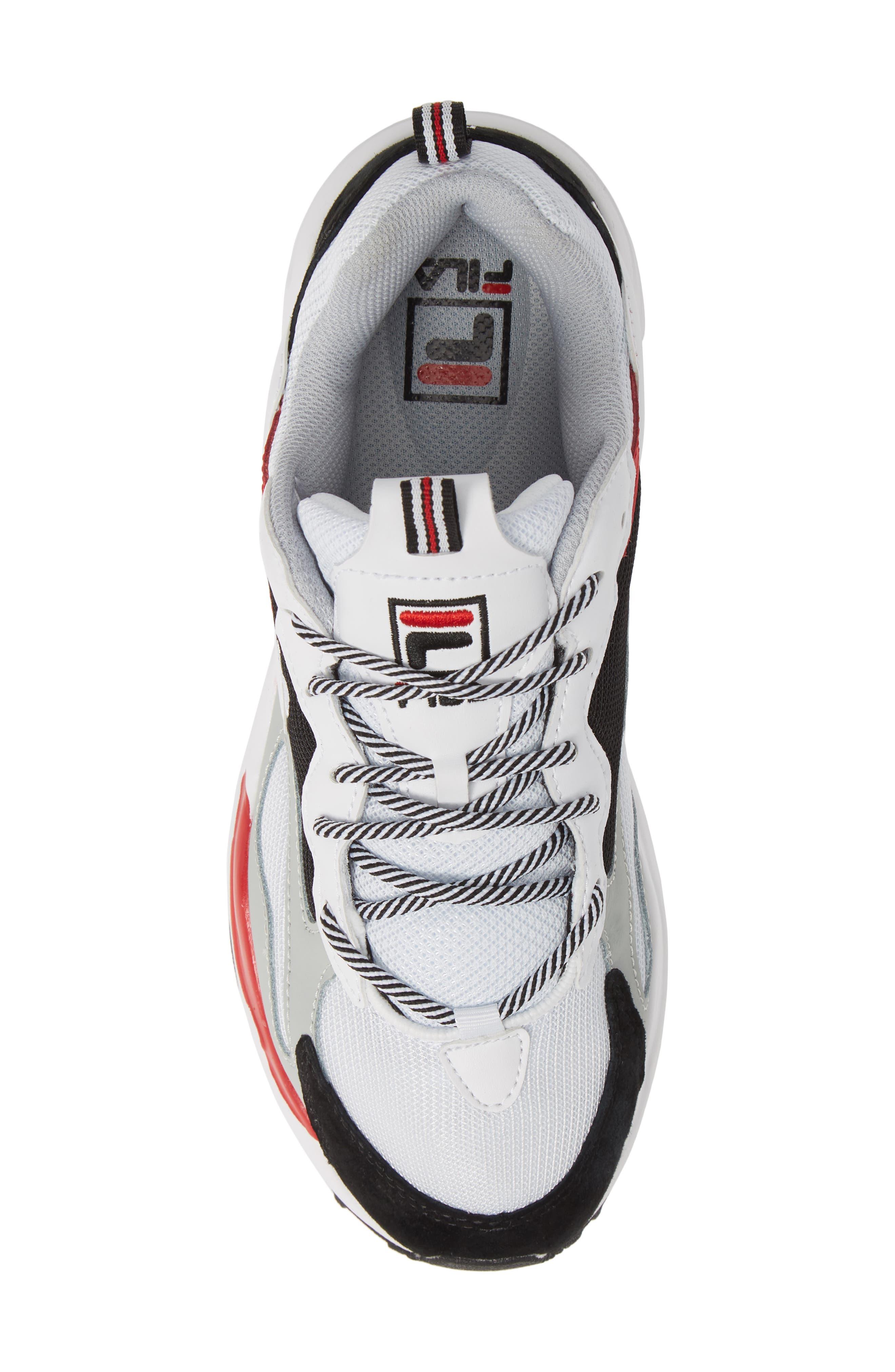 FILA, Ray Tracer Sneaker, Alternate thumbnail 5, color, WHITE/ BLACK