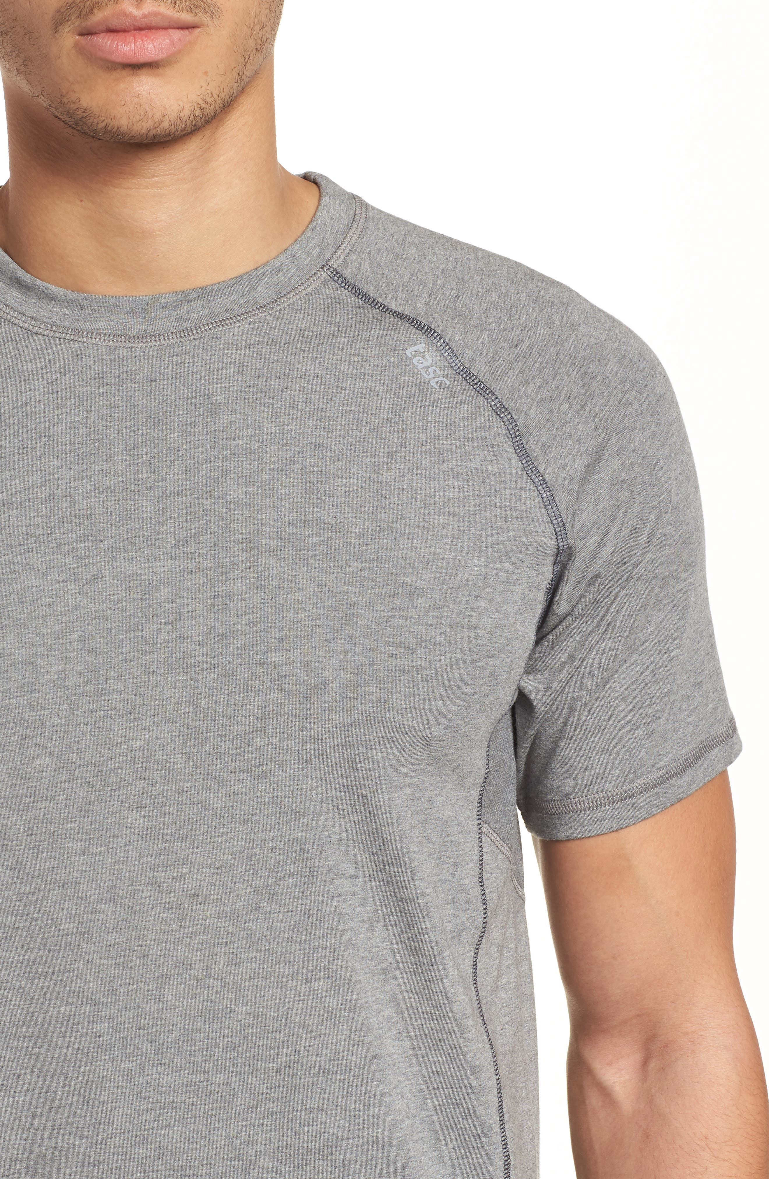 TASC PERFORMANCE, Charge II T-Shirt, Alternate thumbnail 4, color, HEATHER GREY
