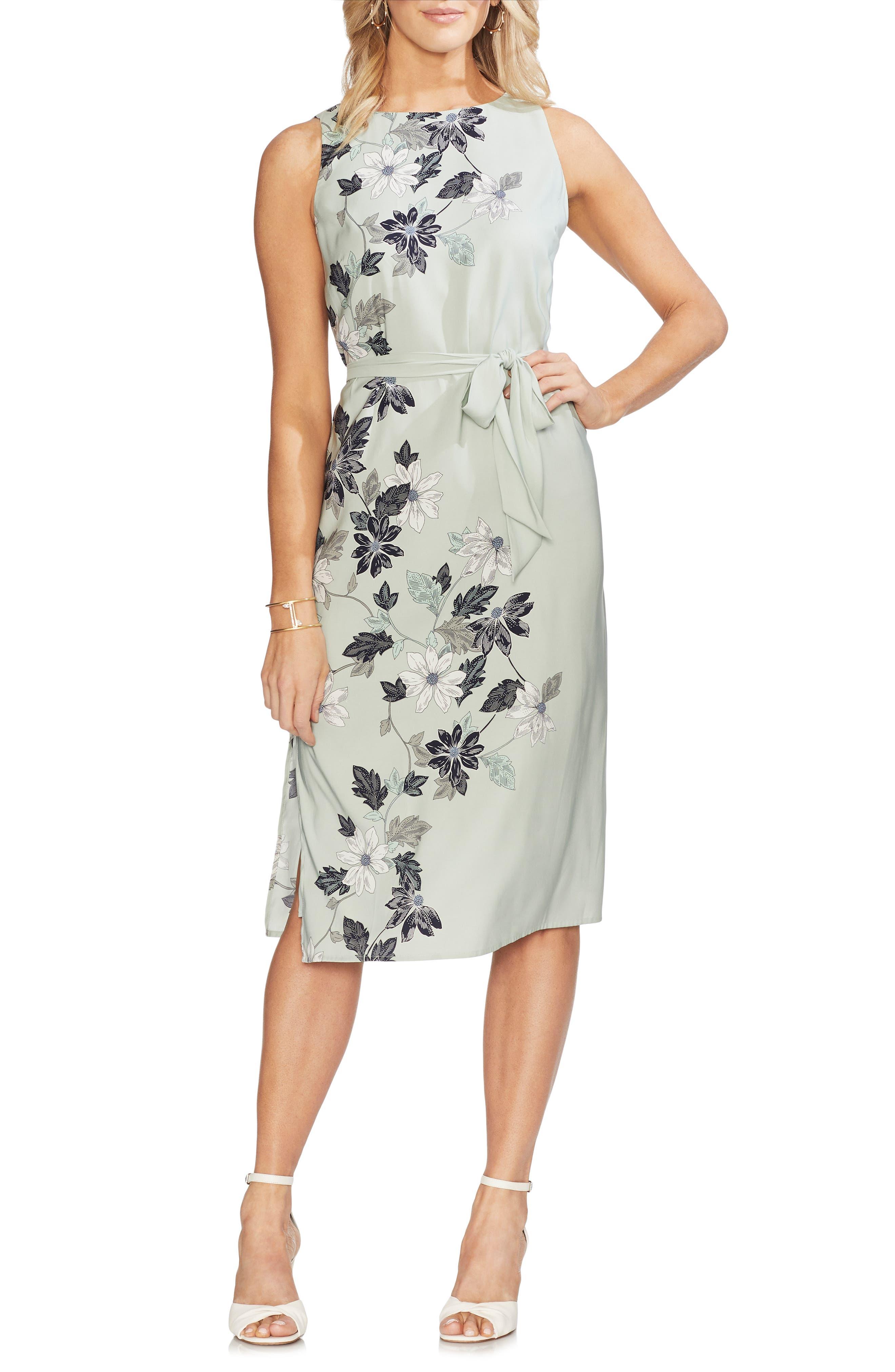 VINCE CAMUTO, Floral Vines Dress, Main thumbnail 1, color, 309