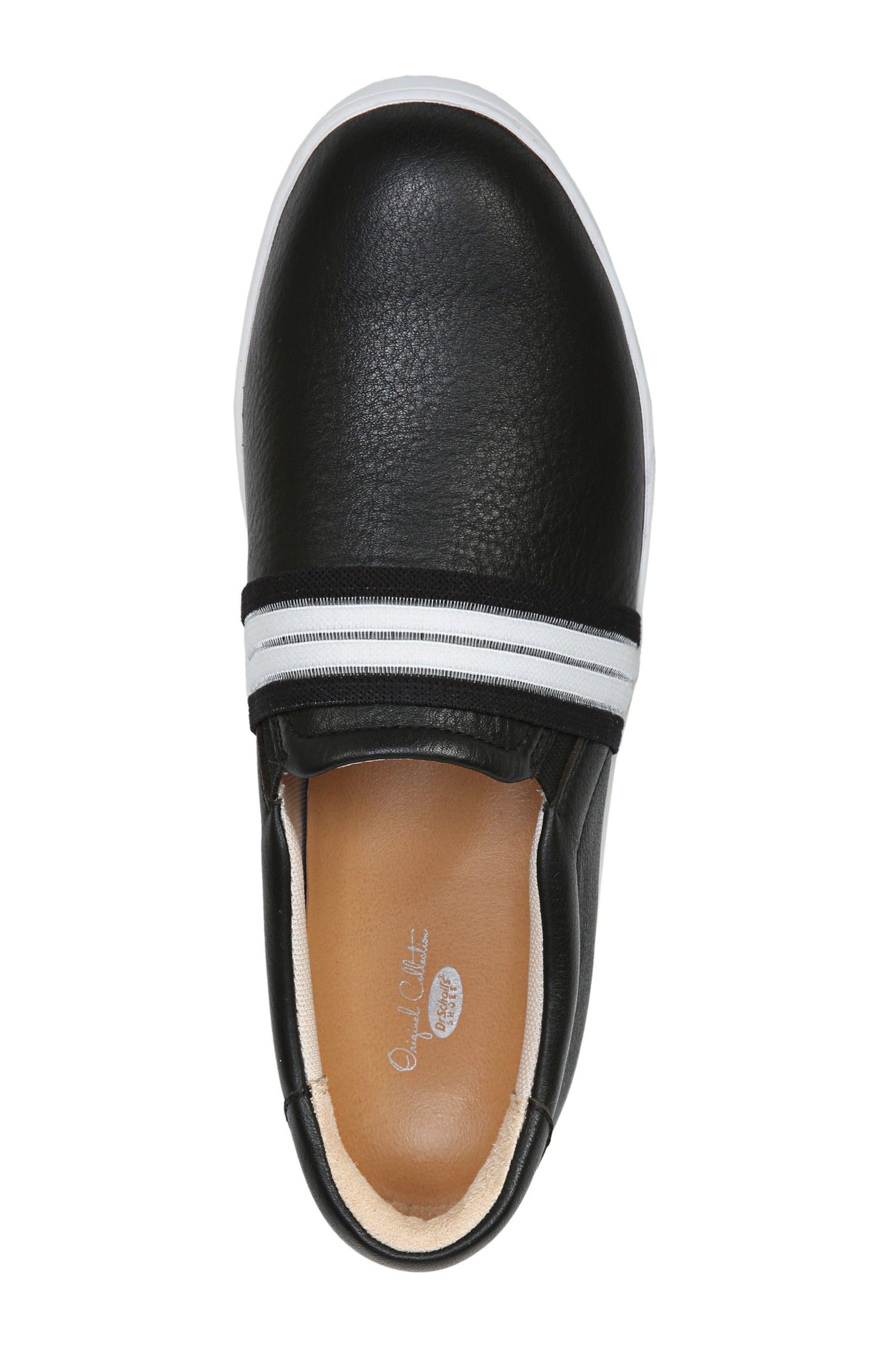 DR. SCHOLL'S, Scout Slip-On Sneaker, Alternate thumbnail 5, color, BLACK LEATHER 2