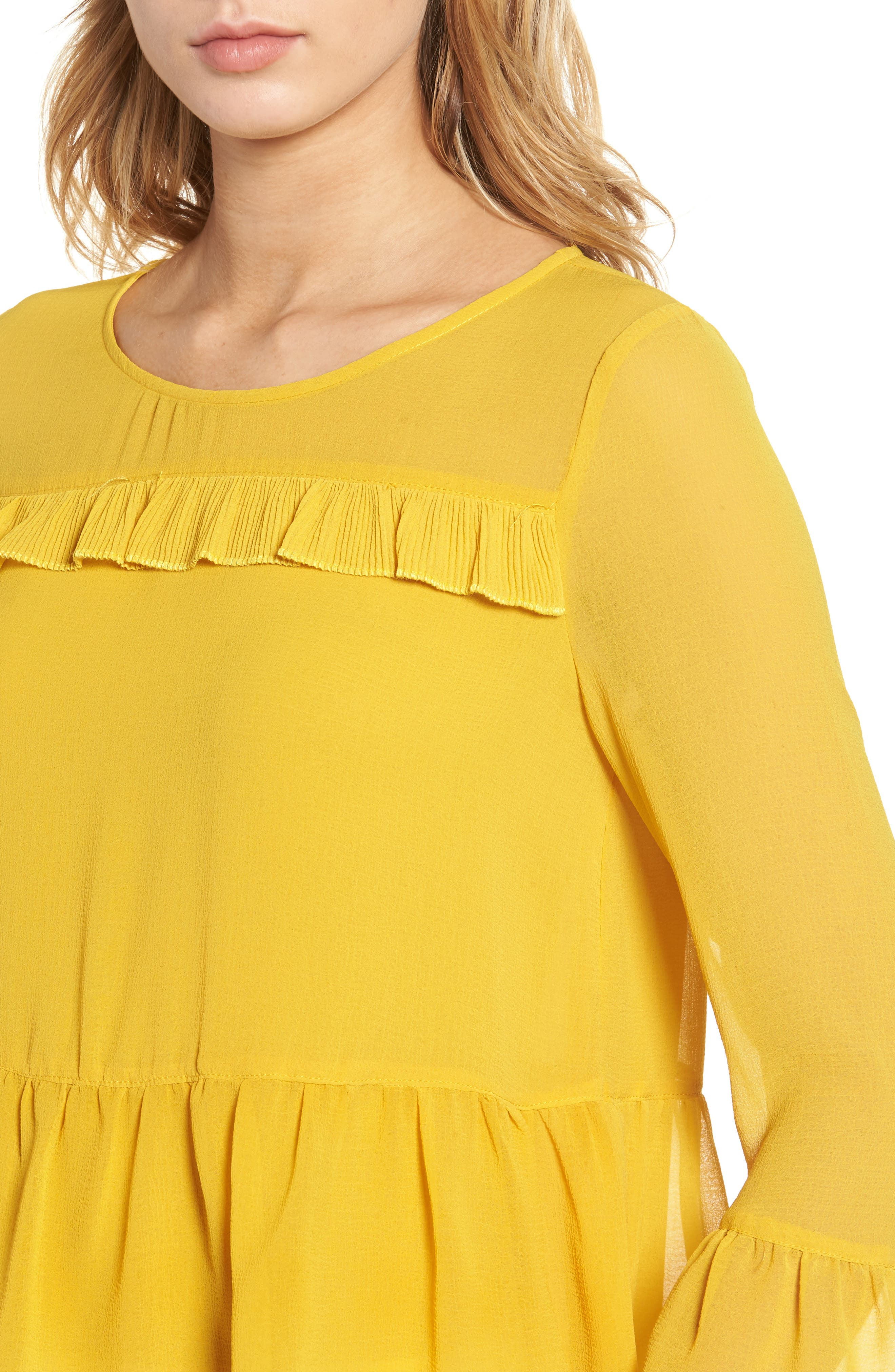 CUPCAKES AND CASHMERE, Katlyn Peplum Top, Alternate thumbnail 4, color, 700