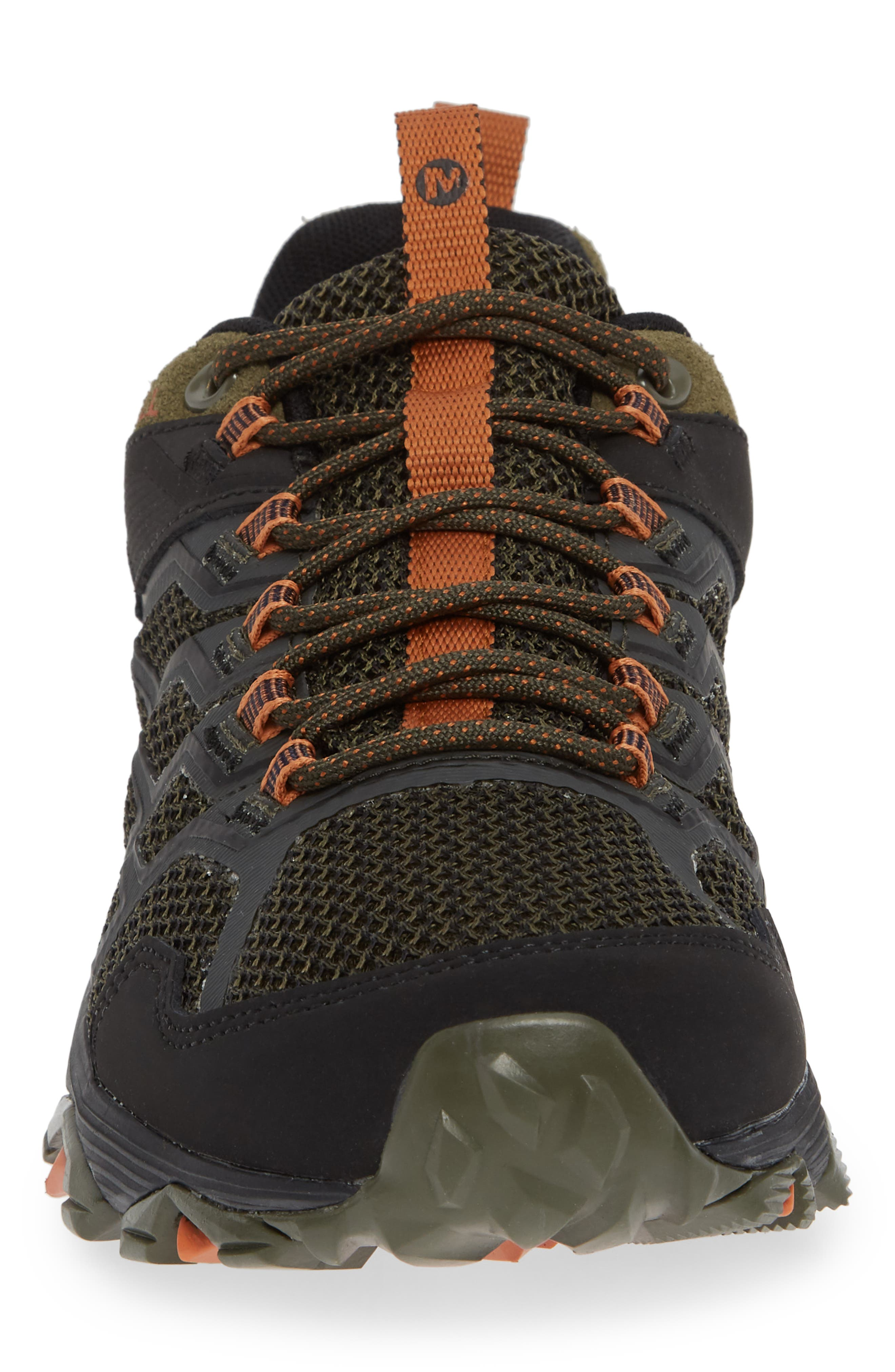 MERRELL, Moab FST 2 Waterproof Hiking Shoe, Alternate thumbnail 4, color, OLIVE/ ADOBE